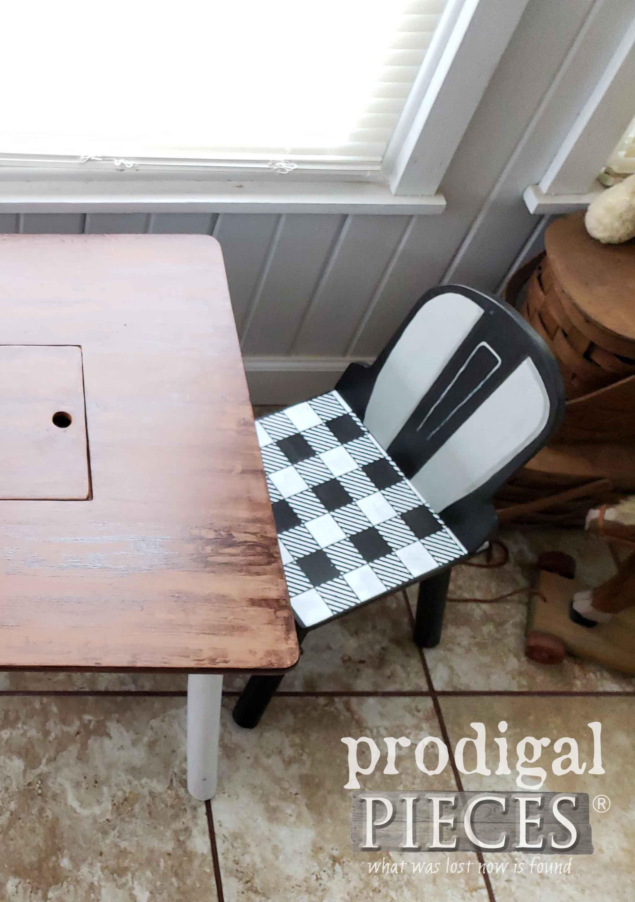 Mini Farmhouse Table Set Pretend Play by Larissa of Prodigal Pieces | prodigalpieces.com