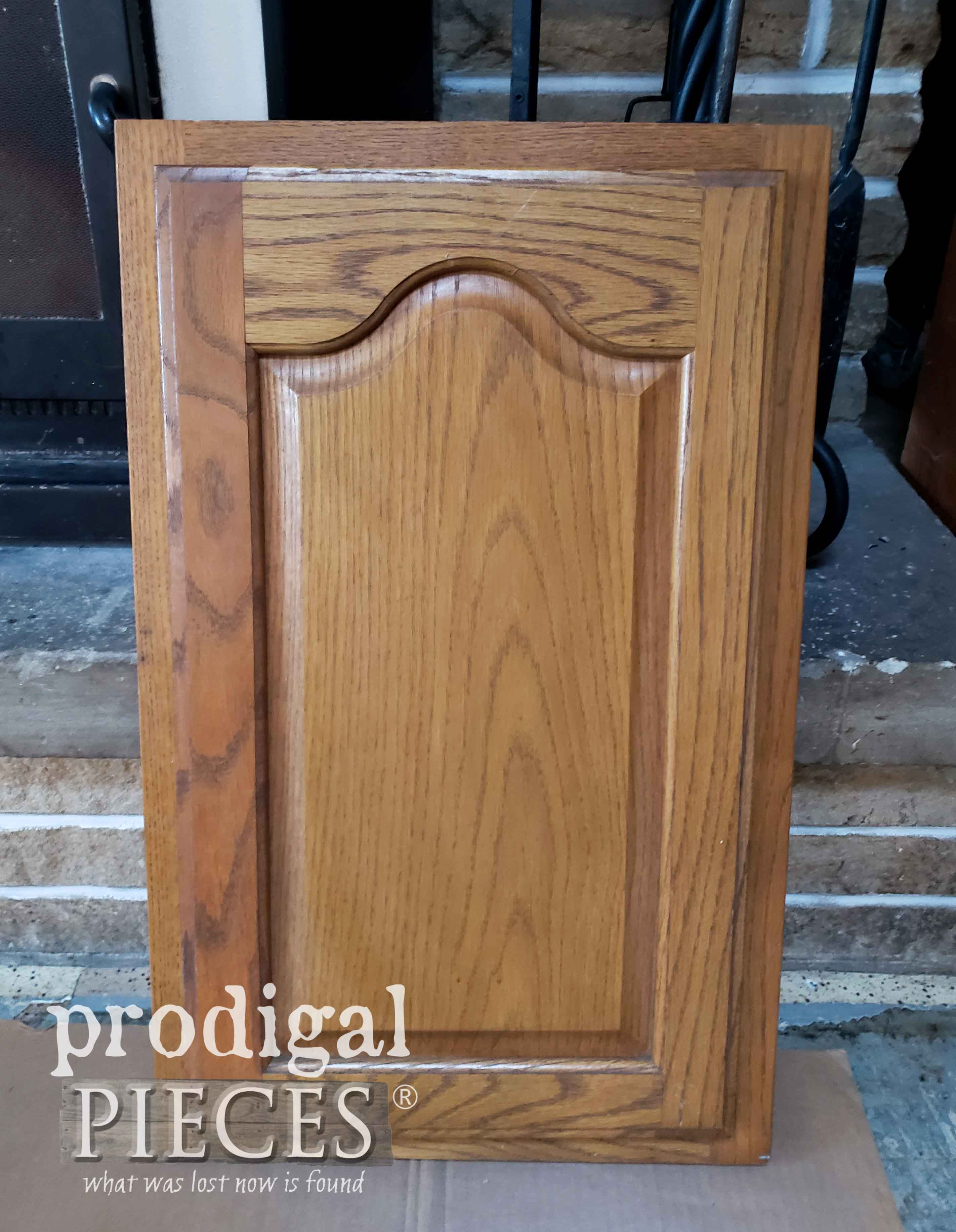 Oak Cupboard Sample Before Makeover by Prodigal Pieces | prodigalpieces.com