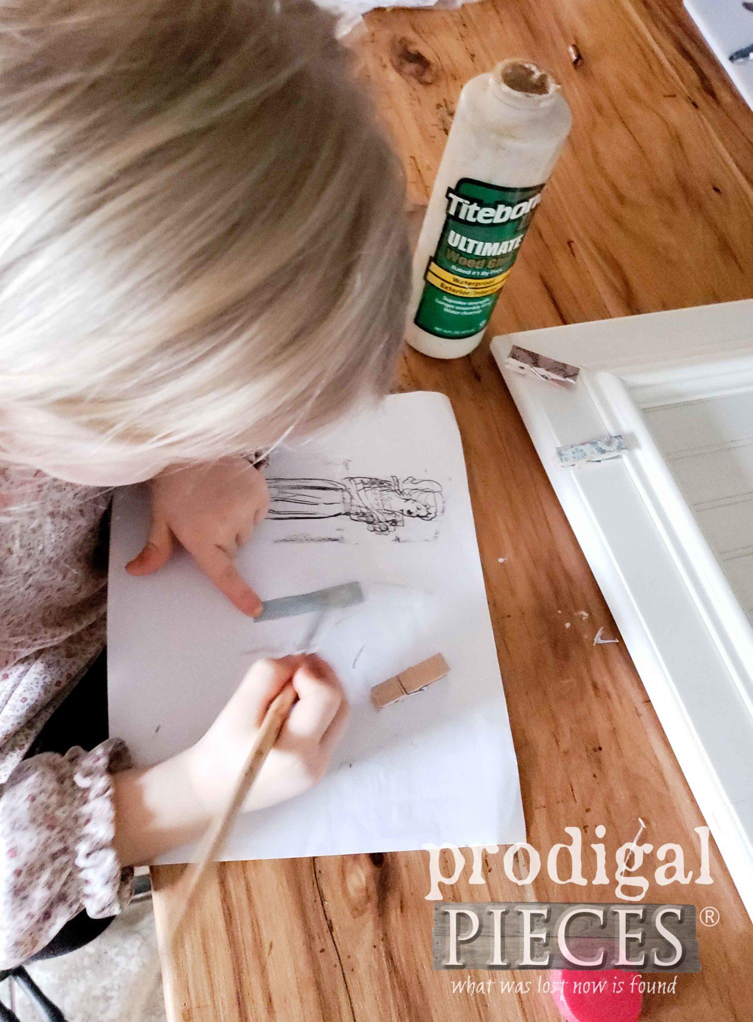 Papering Miniature Clothespins | prodigalpieces.com