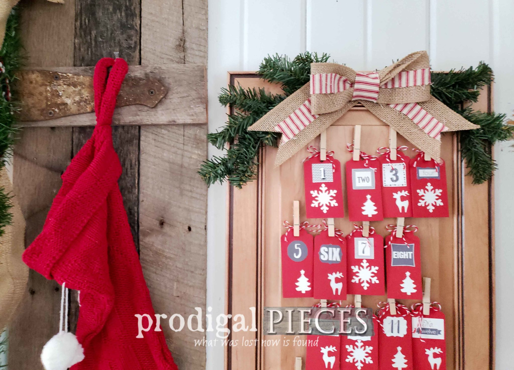Make a Burlap Bow for your Farmhouse Decor in Five Minutes by Prodigal Pieces Kids Create | prodigalpieces.com