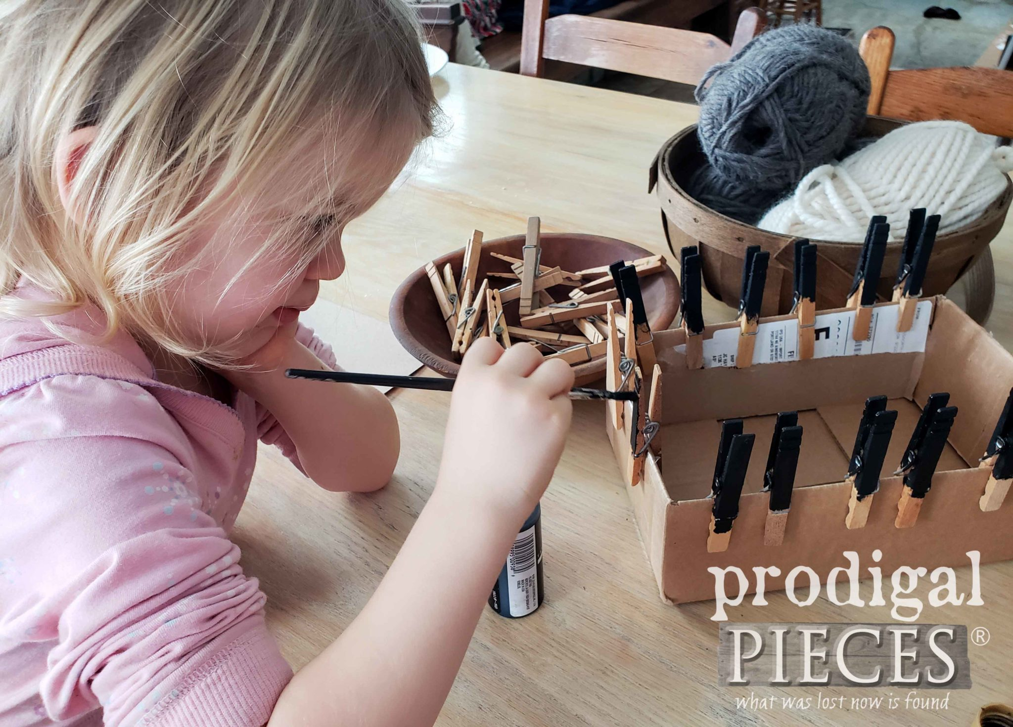 Toddler Painting Clothespins | prodigalpieces.com