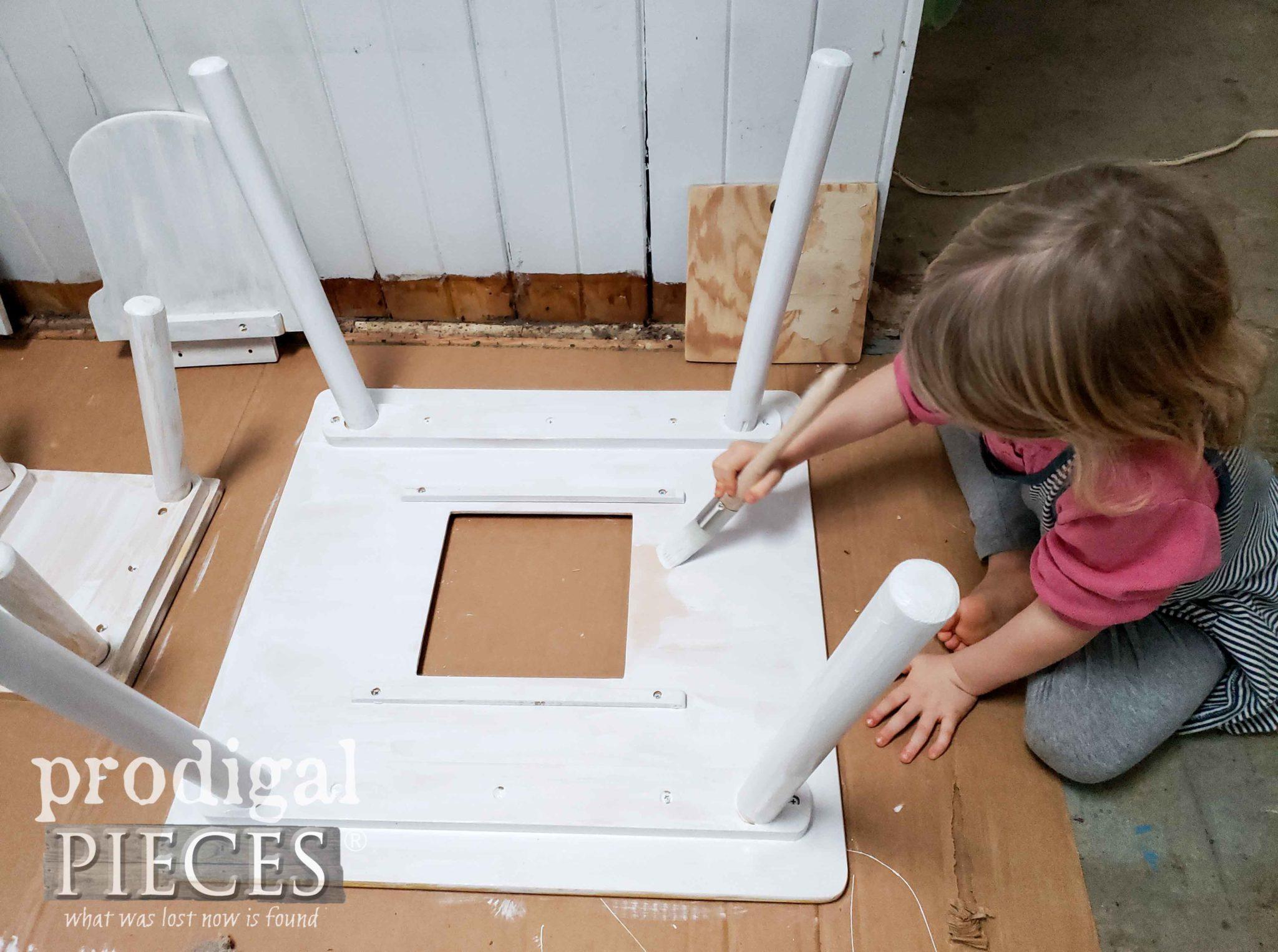 Toddler Helping Mama Paint | prodigalpieces.com