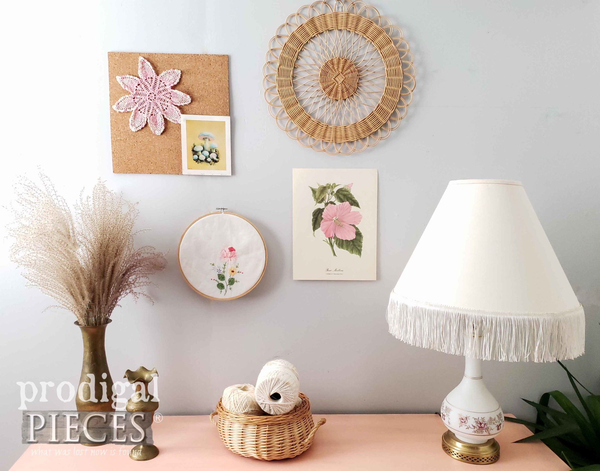 Vintage Blush Pink Boho Style Decor by Larissa of Prodigal Pieces | prodigalpieces.com