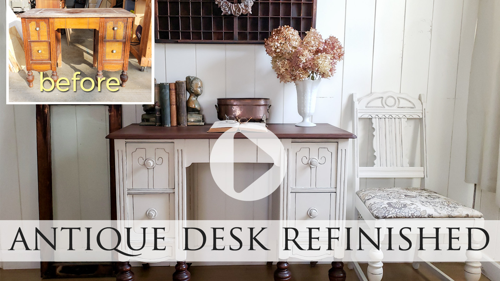 Video Tutorial for Antique Dressing Table Turned Desk by Larissa of Prodigal Pieces | prodigalpieces.com #prodigalpieces