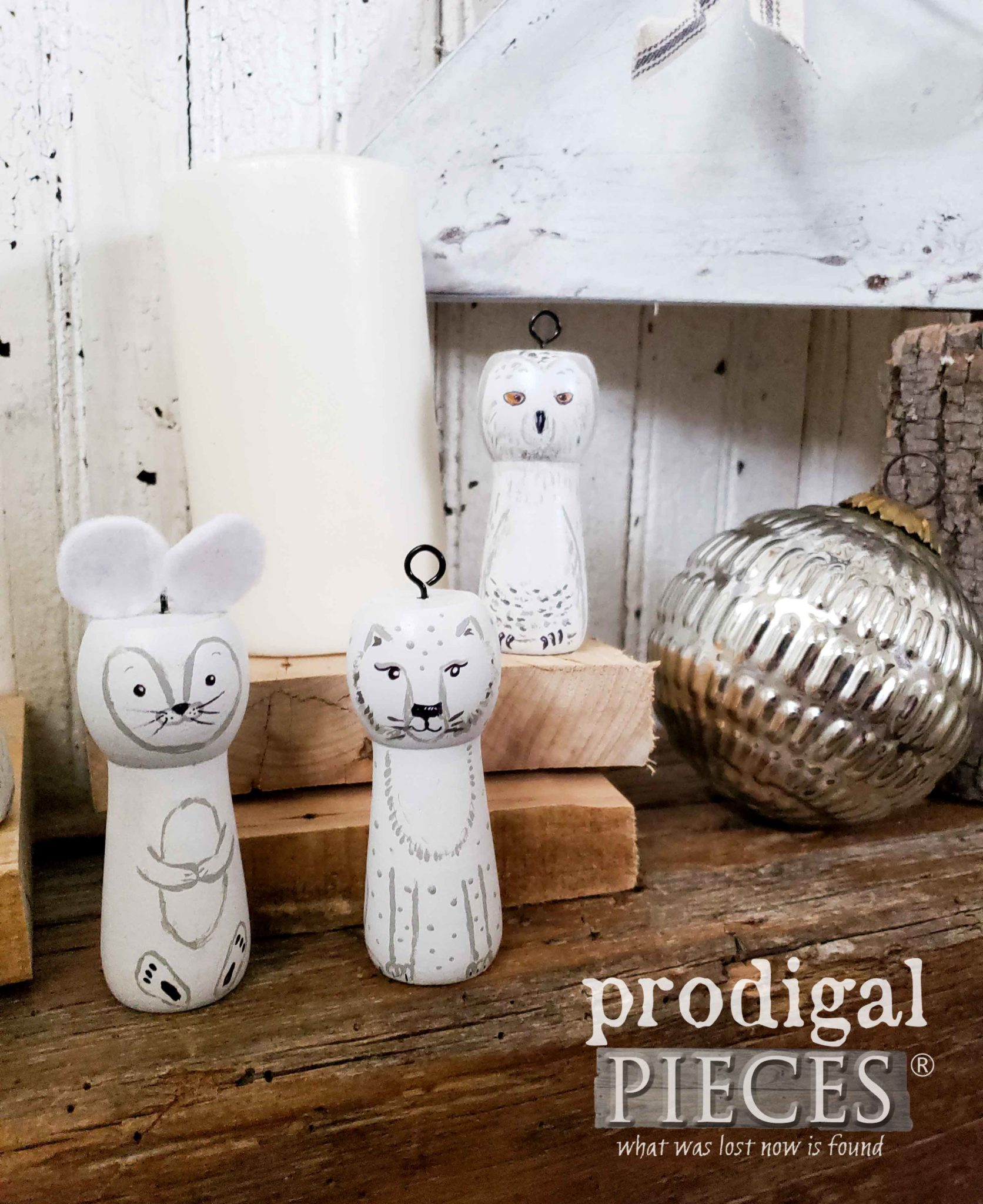 Arctic Woodland Animal Ornaments Handmade by Larissa of Prodigal Pieces | prodigalpieces.com