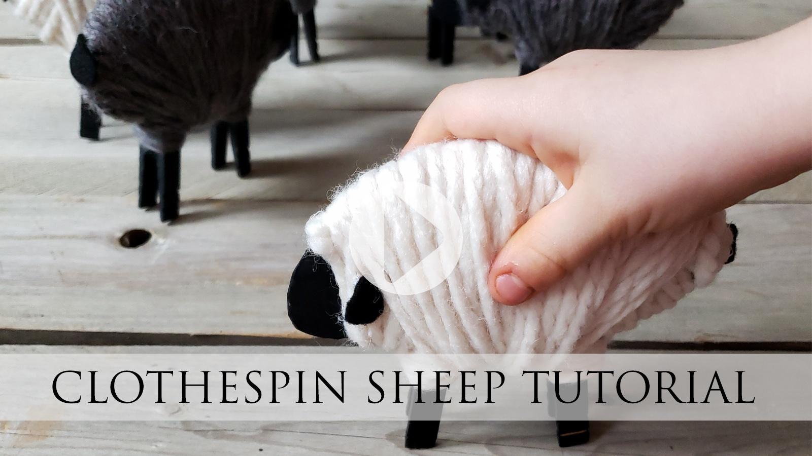 Adorable DIY Clothespin Sheep Tutorial by Larissa of Prodigal Pieces | prodigalpieces.com #prodigalpieces