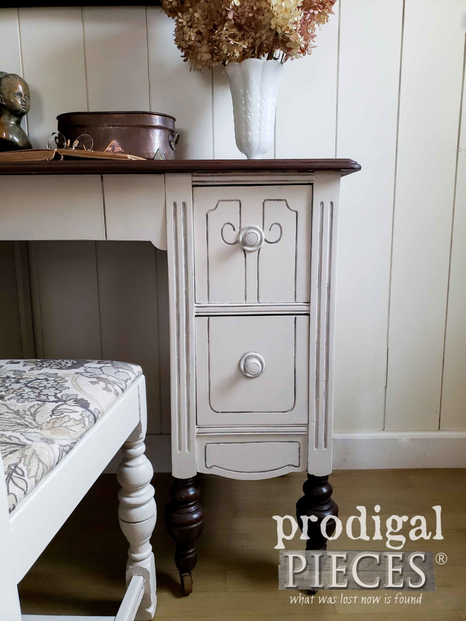 Antique Desk Drawers with Time-Worn Style by Larissa of Prodigal Pieces | prodigalpieces.com