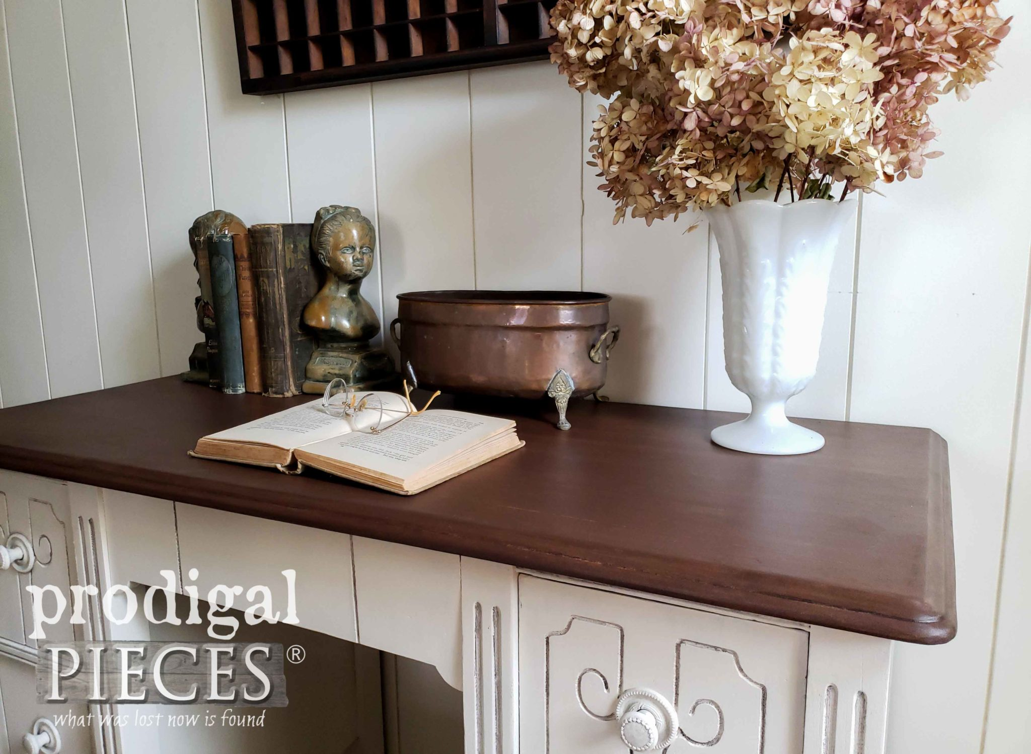 Antique Desk Made New with a Refinish by Larissa of Prodigal Pieces | prodigalpieces.com