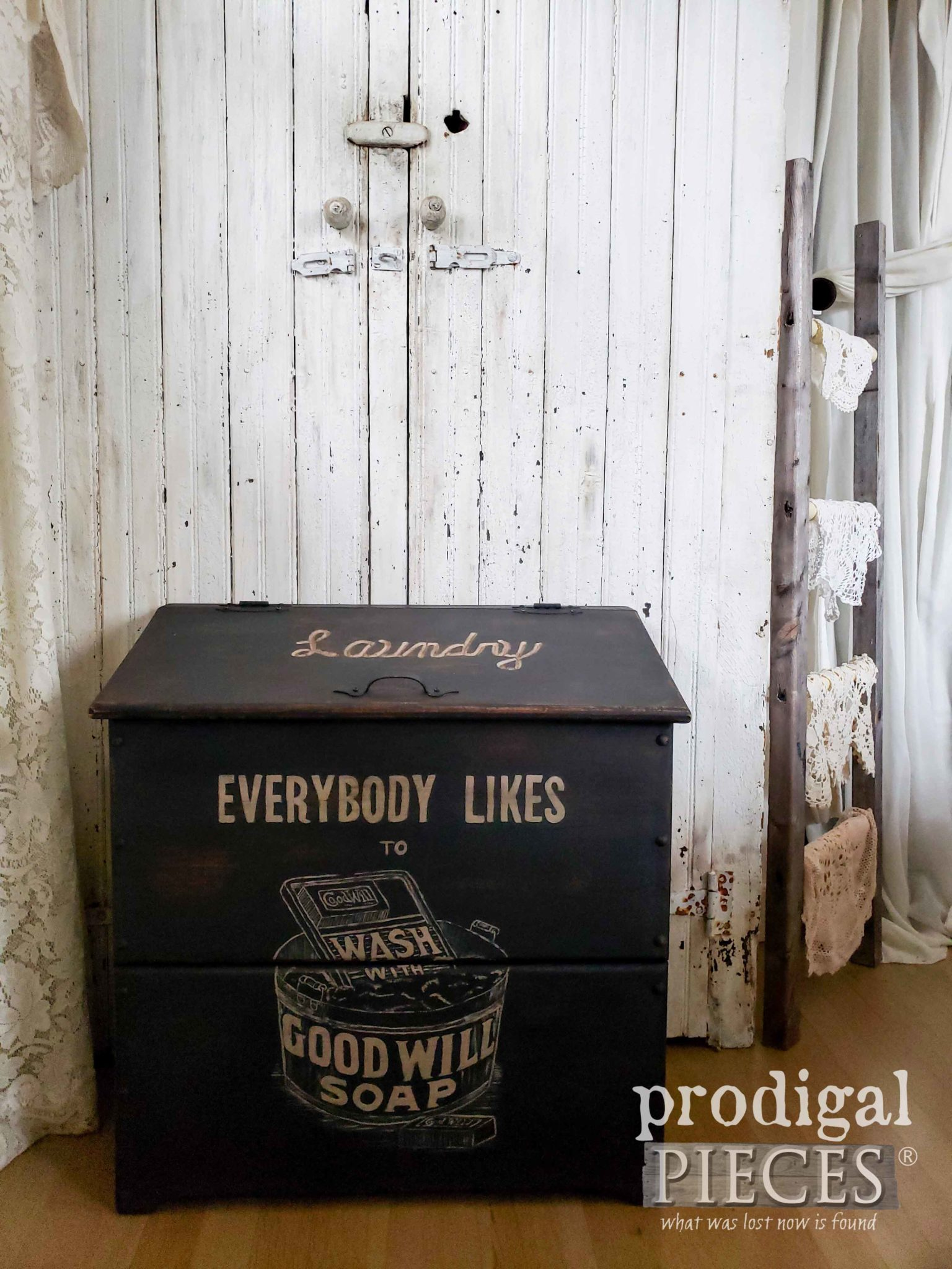 Farmhouse Style Laundry Bin for your Home by Larissa of Prodigal Pieces | prodigalpieces.com