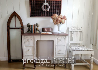 Featured Antique Dressing Table Turned Desk by Larissa of Prodigal Pieces | prodigalpieces.com