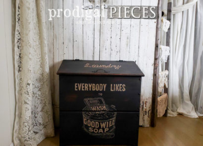 Featured Farmhouse Laundry Bin with Hand-Painted Typography by Larissa of Prodigal Pieces | prodigalpieces.com