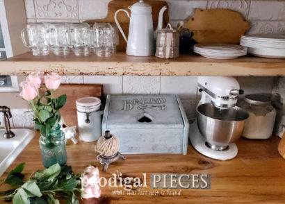 Featured Upcycled Charging Station Created by Using a Vintage Bread Box | Video tutorial by Larissa of Prodigal Pieces | prodigalpieces.com