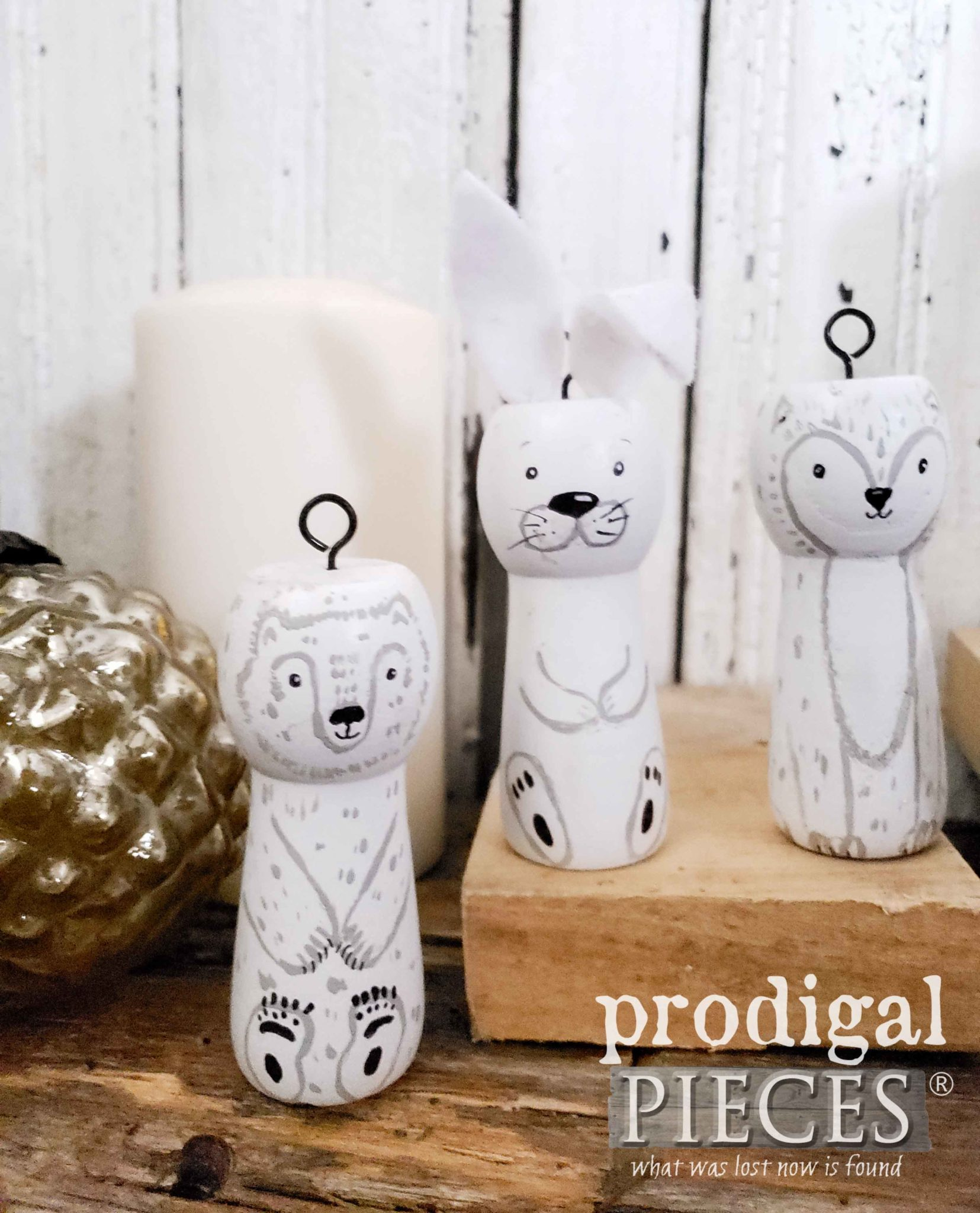 Adorable Hand-Painted Arctic Woodland Animals Created by Larissa of Prodigal Pieces | prodigalpieces.com