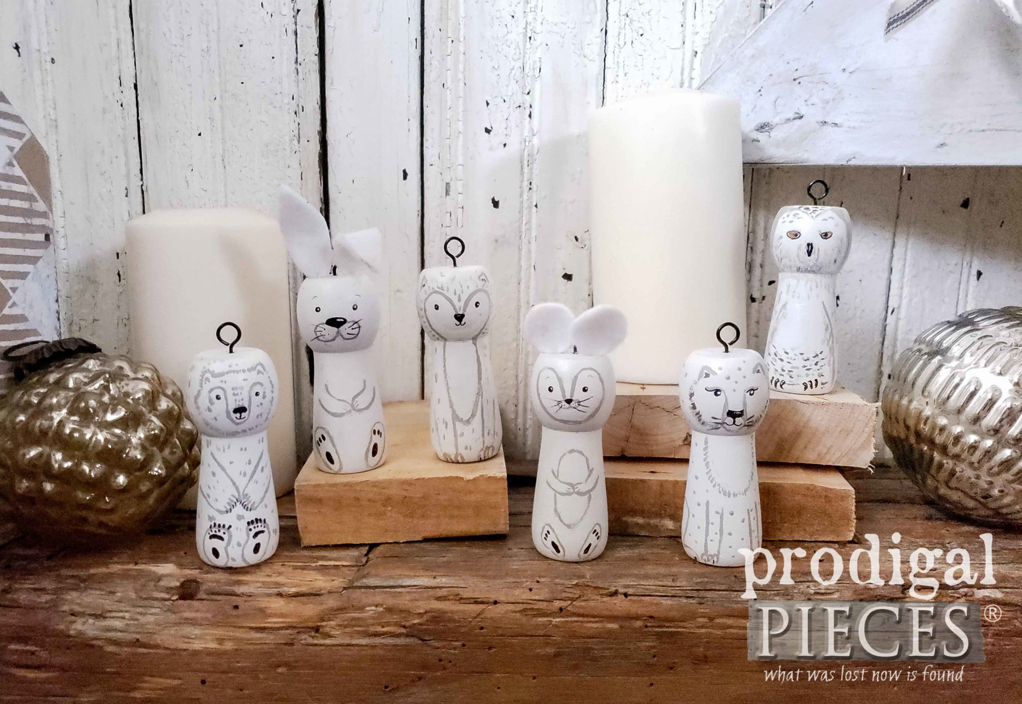 Handmade Christmas Ornaments - Arctic Woodland Animals by Larissa of Prodigal Pieces | prodigalpieces.com