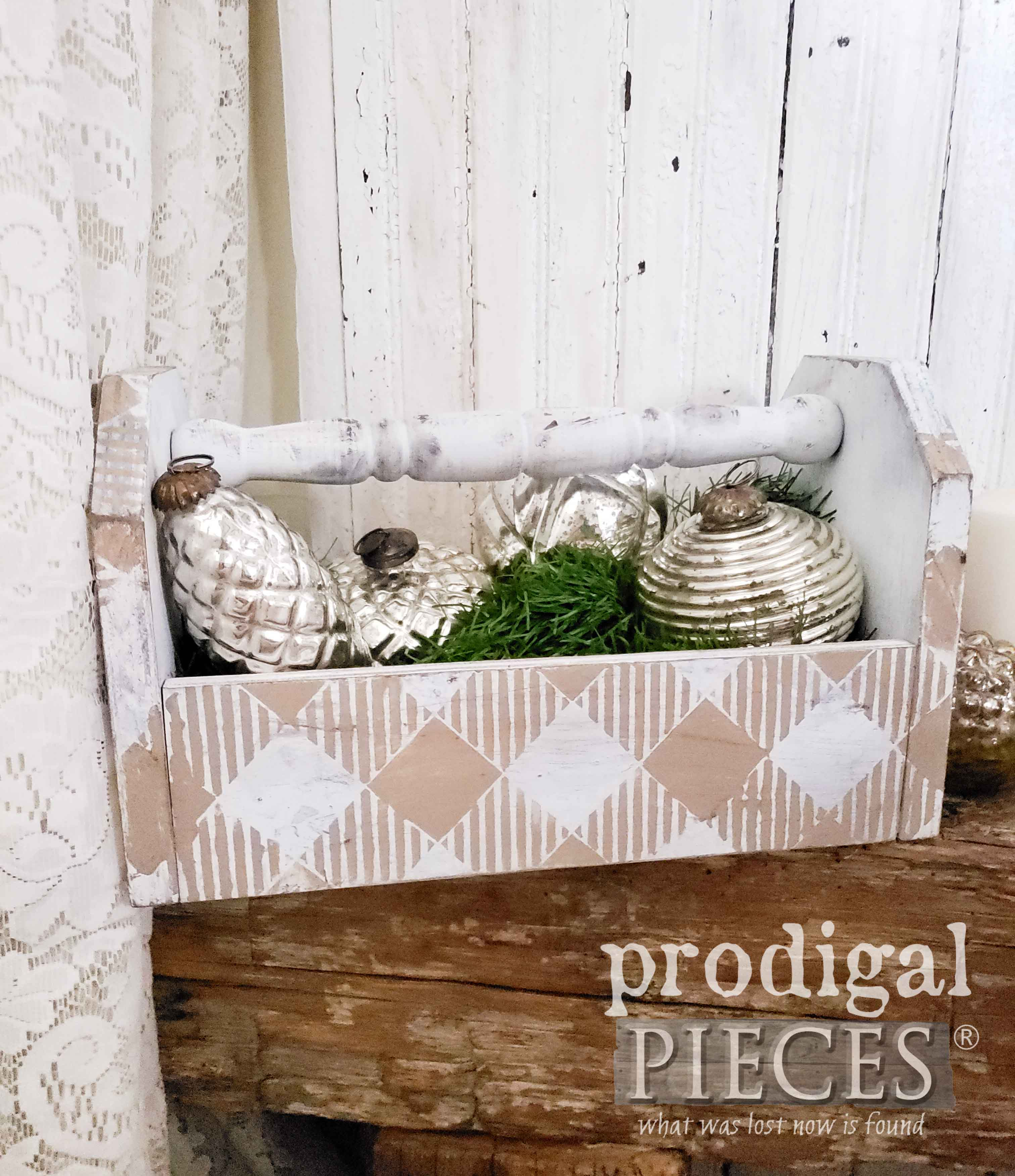 Handmade Farmhouse Tote with Buffalo Check Design by Larissa of Prodigal Pieces | prodigalpieces.com