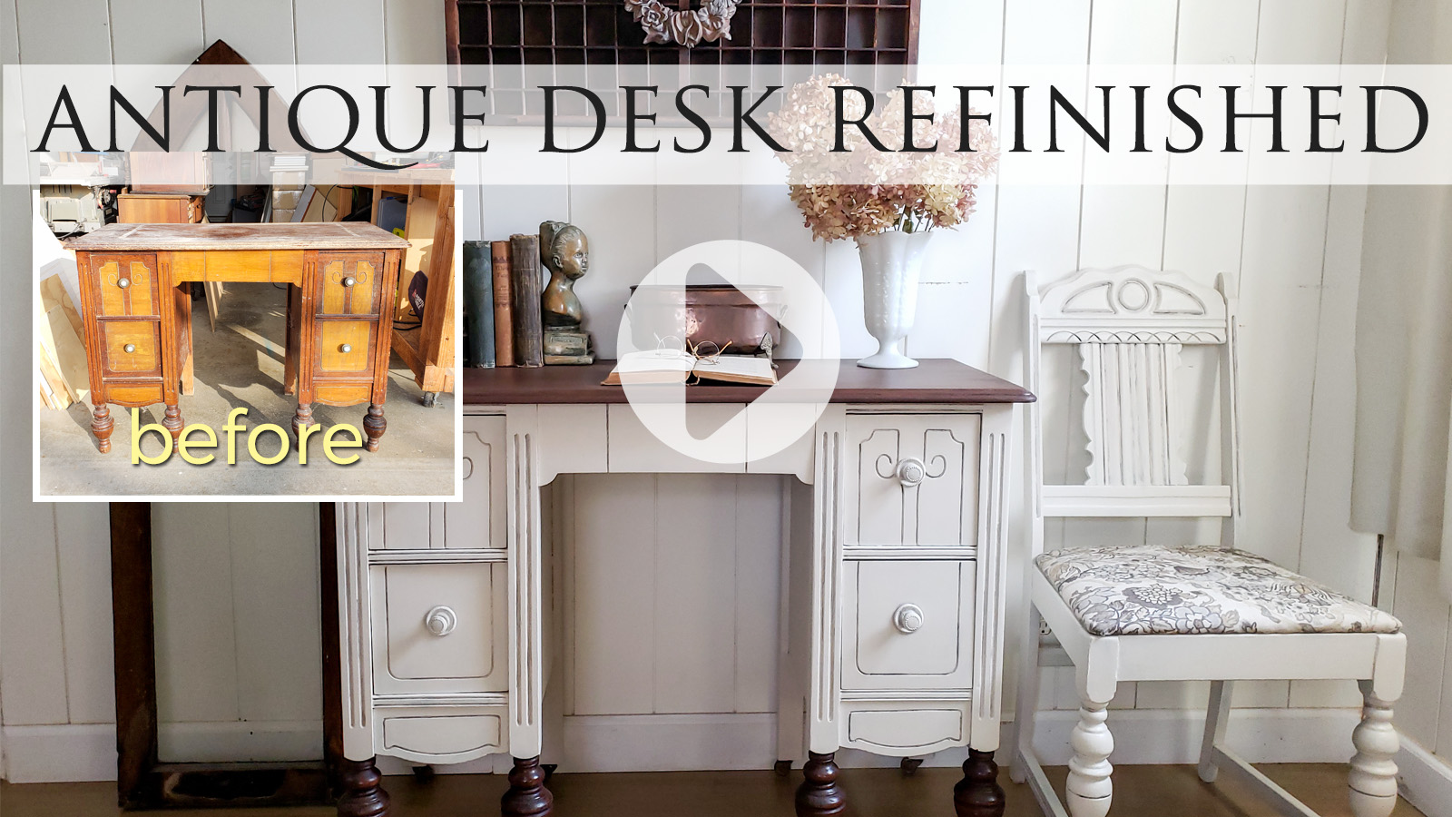 Antique Dressing Table Turned Desk by Larissa of Prodigal Pieces | prodigalpieces.com