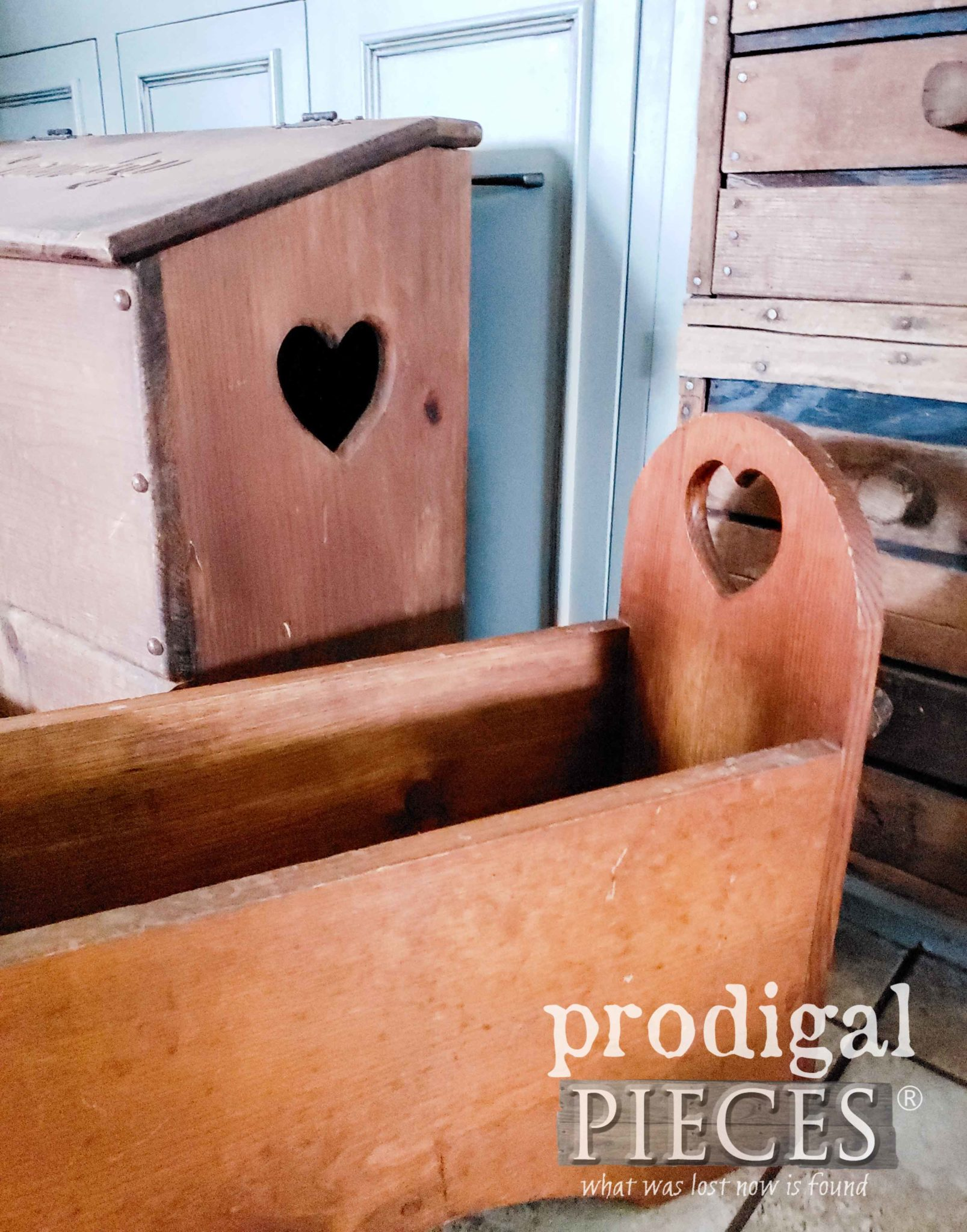 Totally Retro 80's Heart Cut-Out Bins | prodigalpieces.com