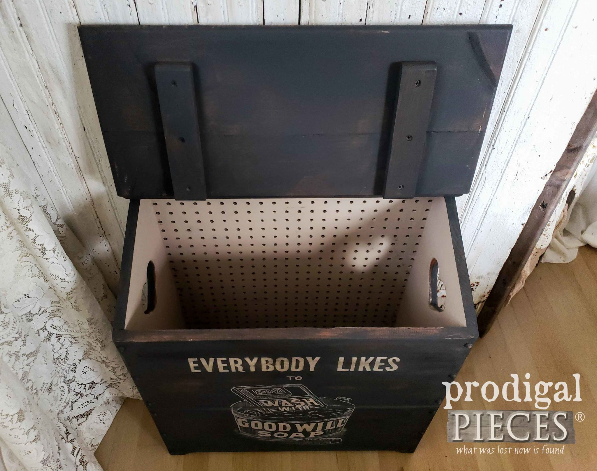 Open Farmhouse Laundry Bin | prodigalpieces.com
