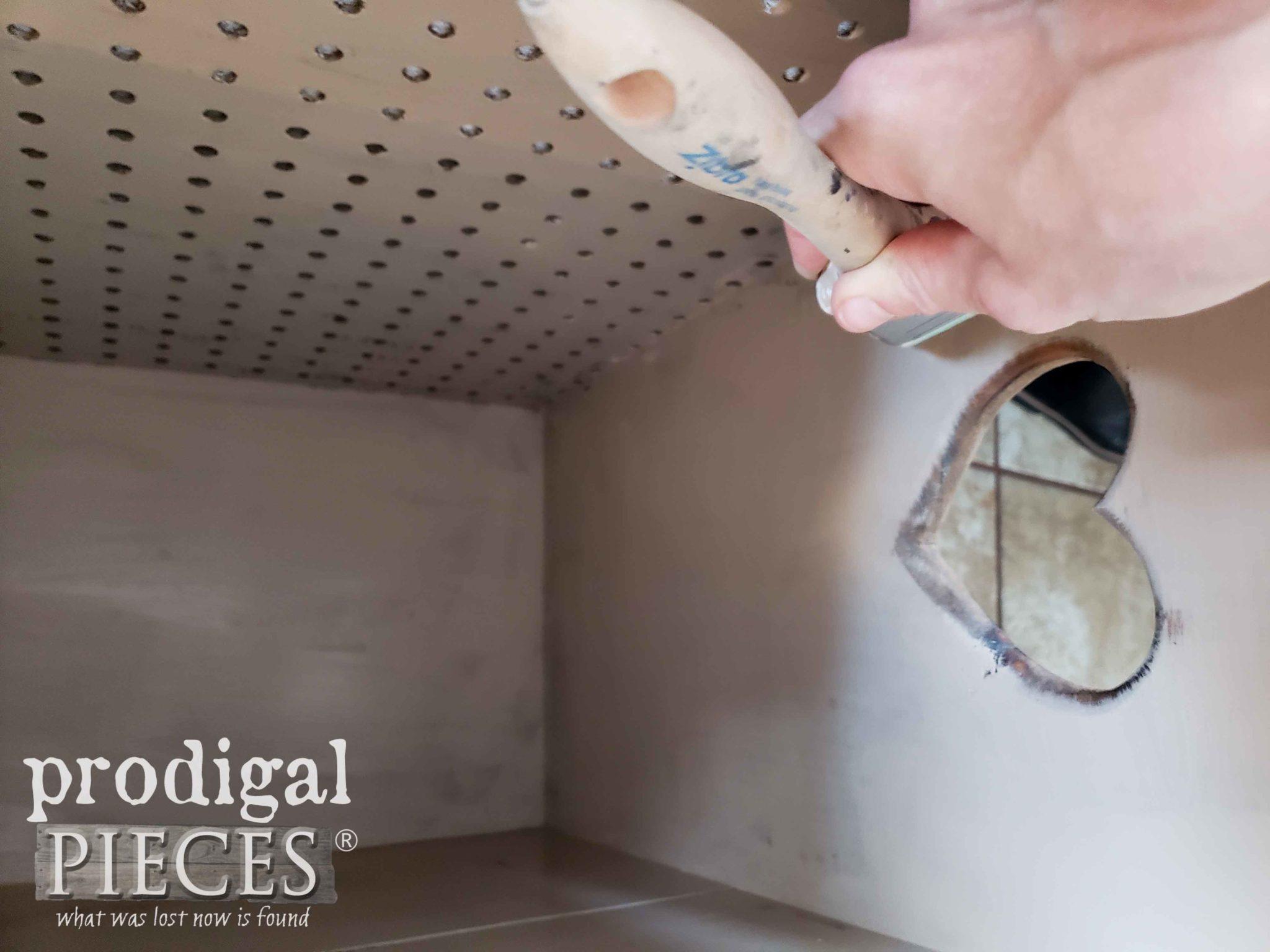 Painting Laundry Bin Interior | prodigalpieces.com