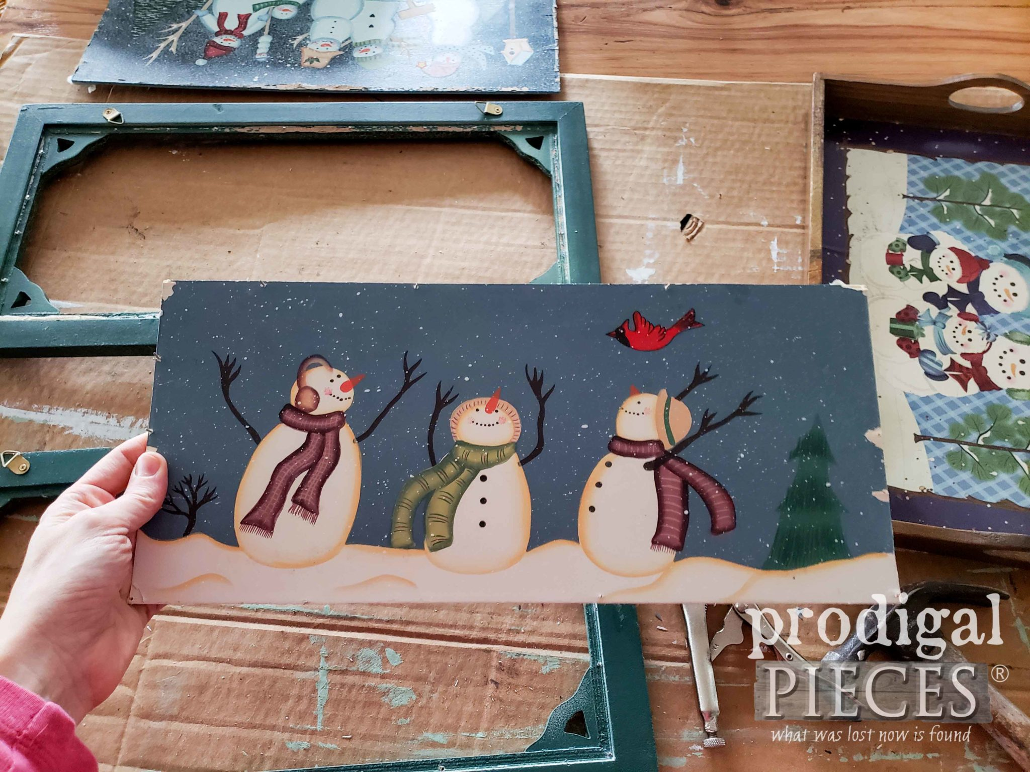 Removed Snowman Wall Art | prodigalpieces.com