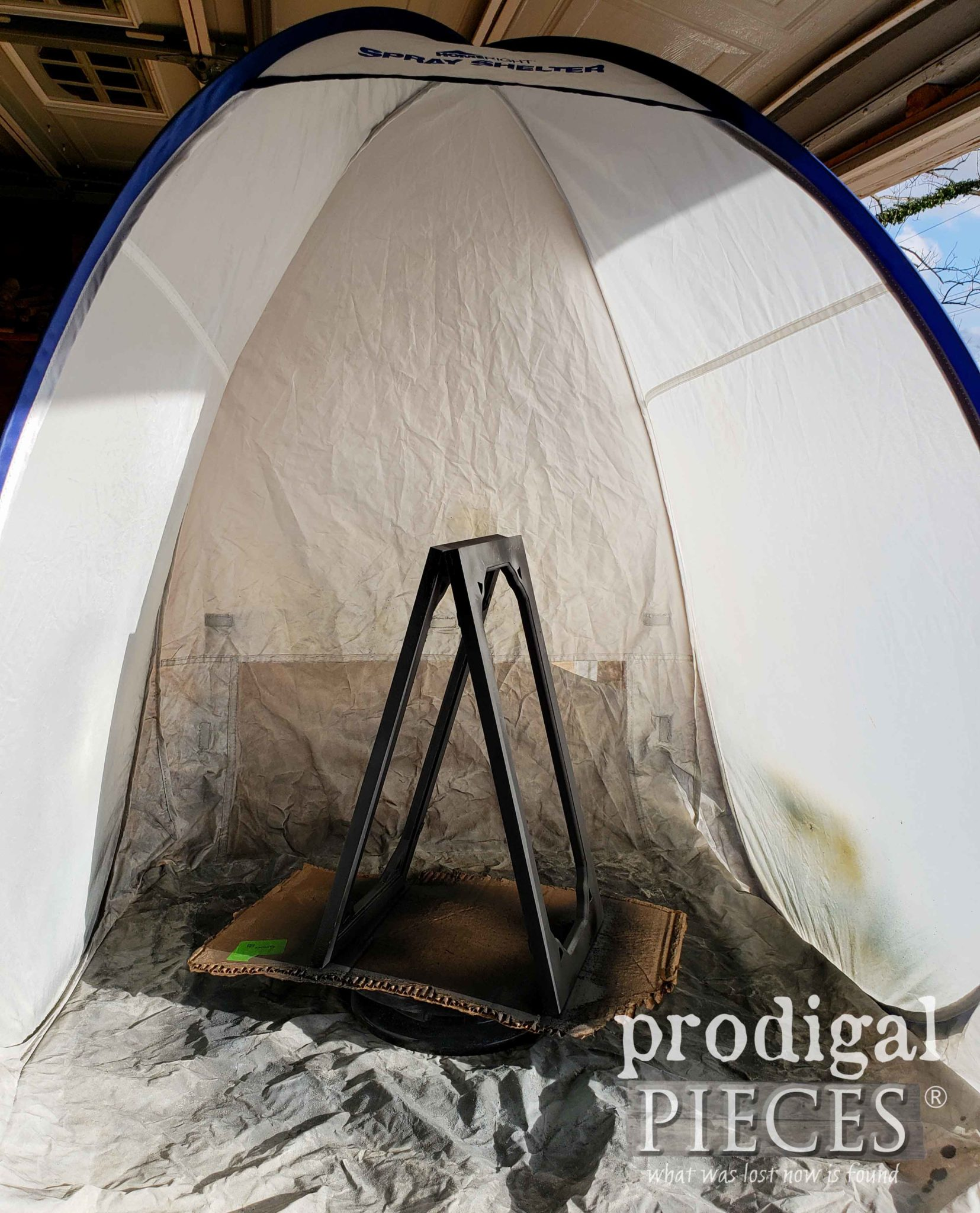 Making use of the HomeRight Small Spray Shelter by Prodigal Pieces | prodigalpieces.com