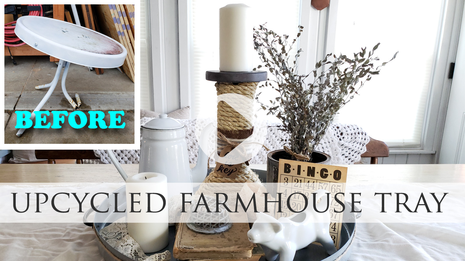 DIY Video For Upcycled Farmhouse Tray by Larissa of Prodigal Pieces | prodigalpieces.com