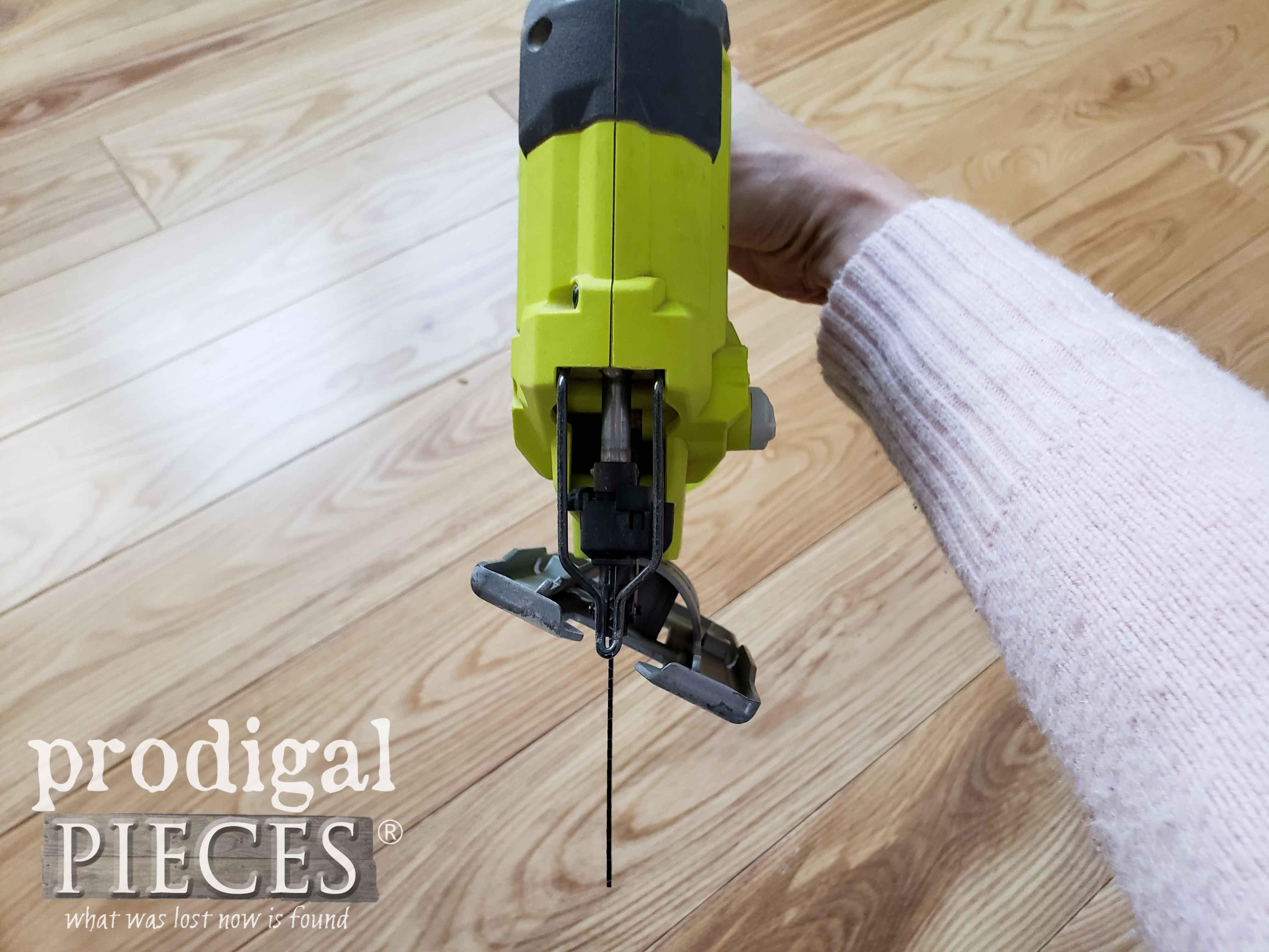 Ryobi Jigsaw Set on Angle Cut | prodigalpieces.com