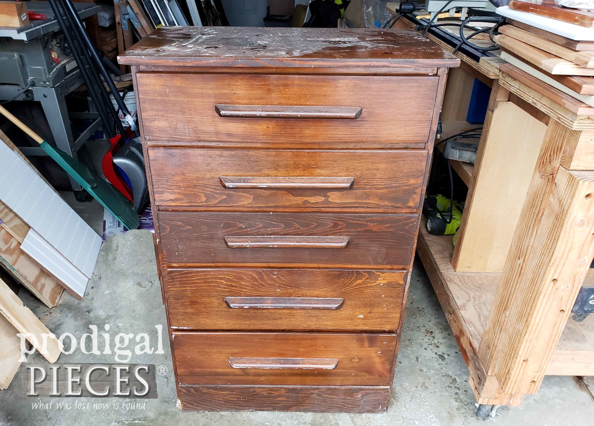 Damaged Chest of Drawers Before | prodigalpieces.com