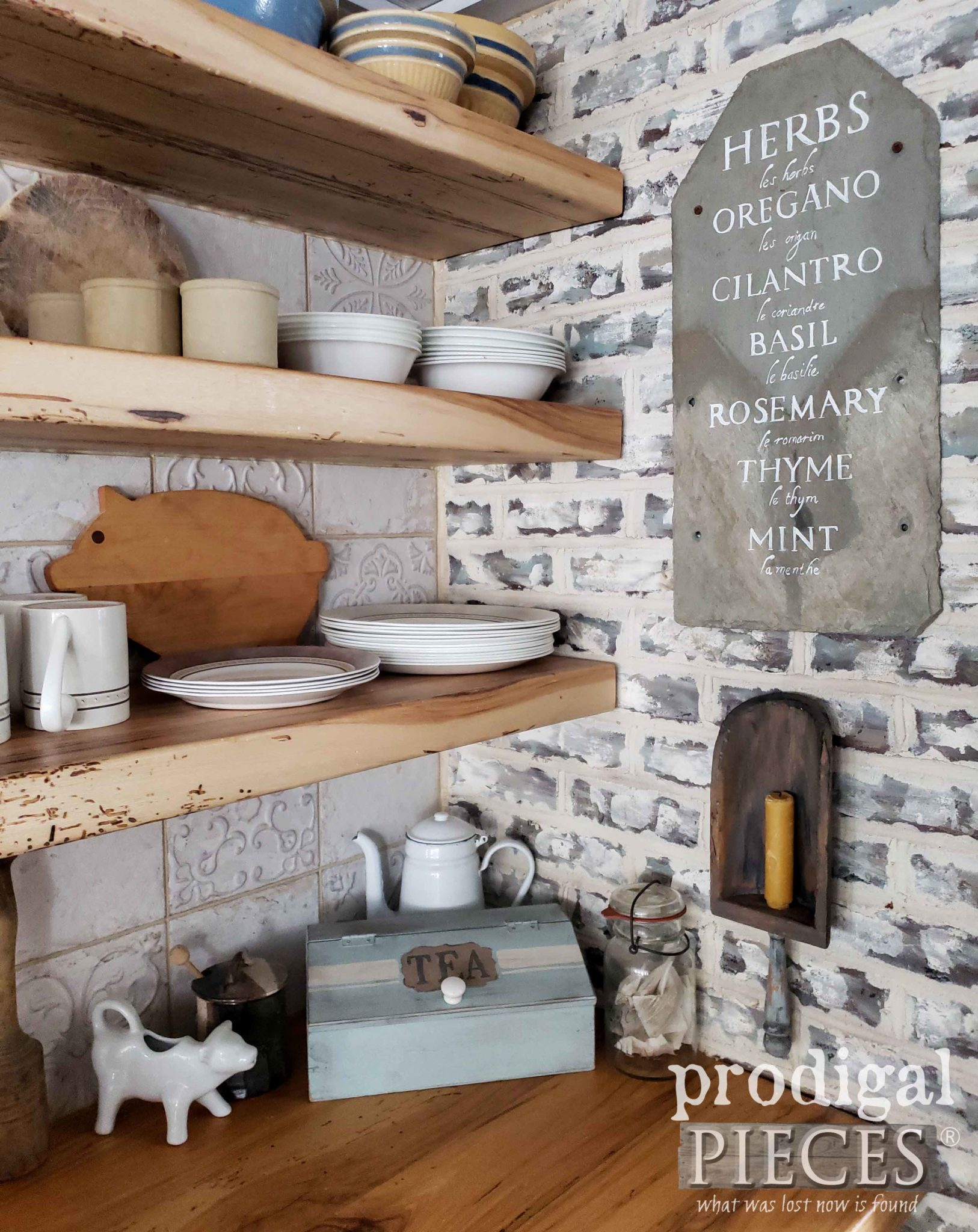 DIY Farmhouse Kitchen Decor from Thrift Store finds by Larissa of Prodigal Pieces | prodigalpieces.com #prodigalpieces #home #homedecor #homedecorideas #farmhouse #handmade #shopping #vintage