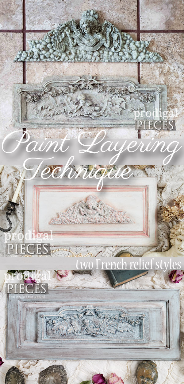 Ooh!! I have to try this paint layering technique as demonstrated by Larissa of Prodigal Pieces in this step-by-step video tutorial | Upcycled cupboard door art | prodigalpieces.com #prodigalpieces #diy #handmade #paint #home #shopping #homedecor #homedecorideas #shabbychic