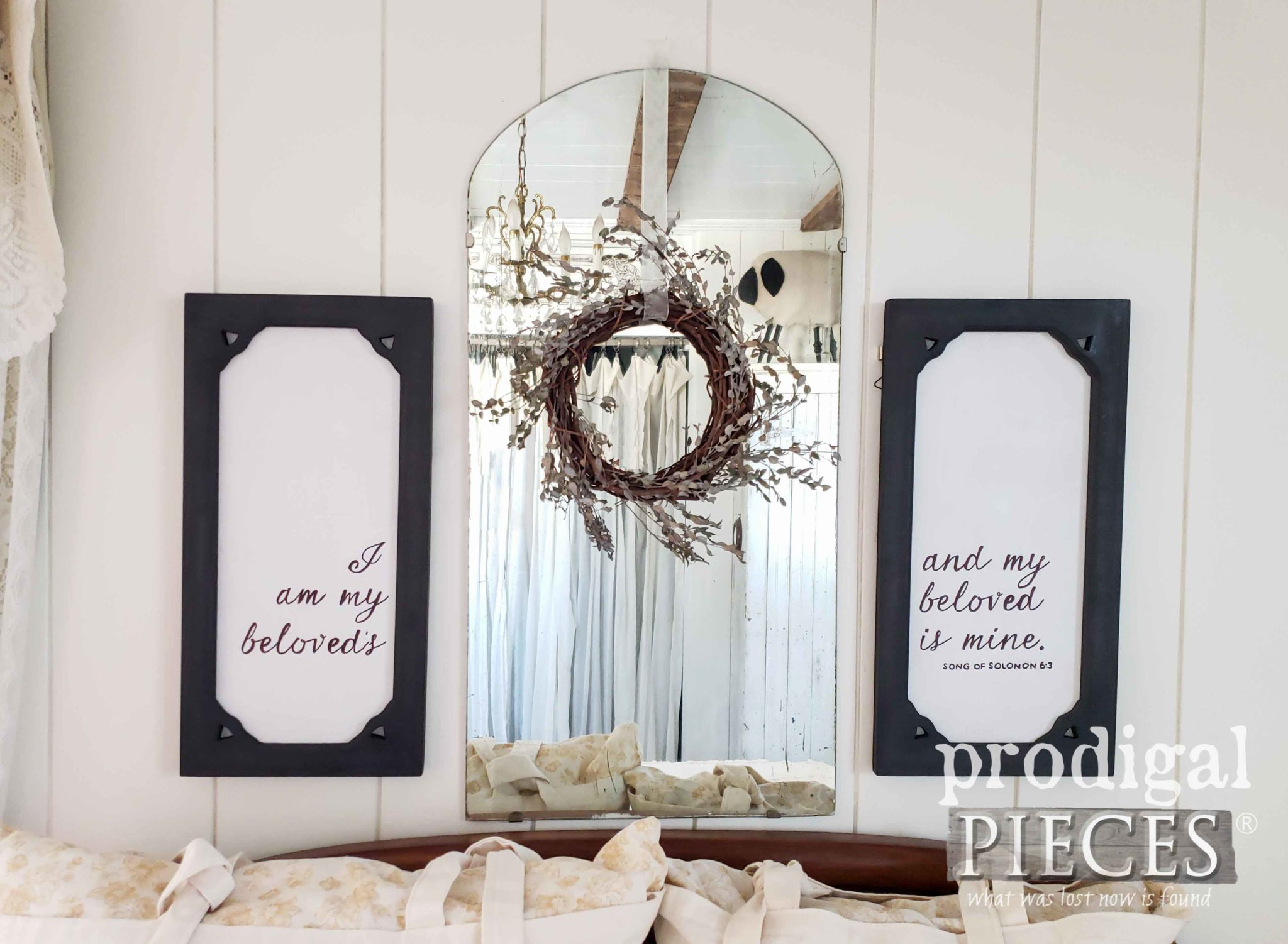 DIY Typography Wall Art with Scripture   Tutorial by Larissa of Prodigal Pieces   prodigalpieces.com #prodigalpieces #diy #handmade #home #homedecor #homedecorideas