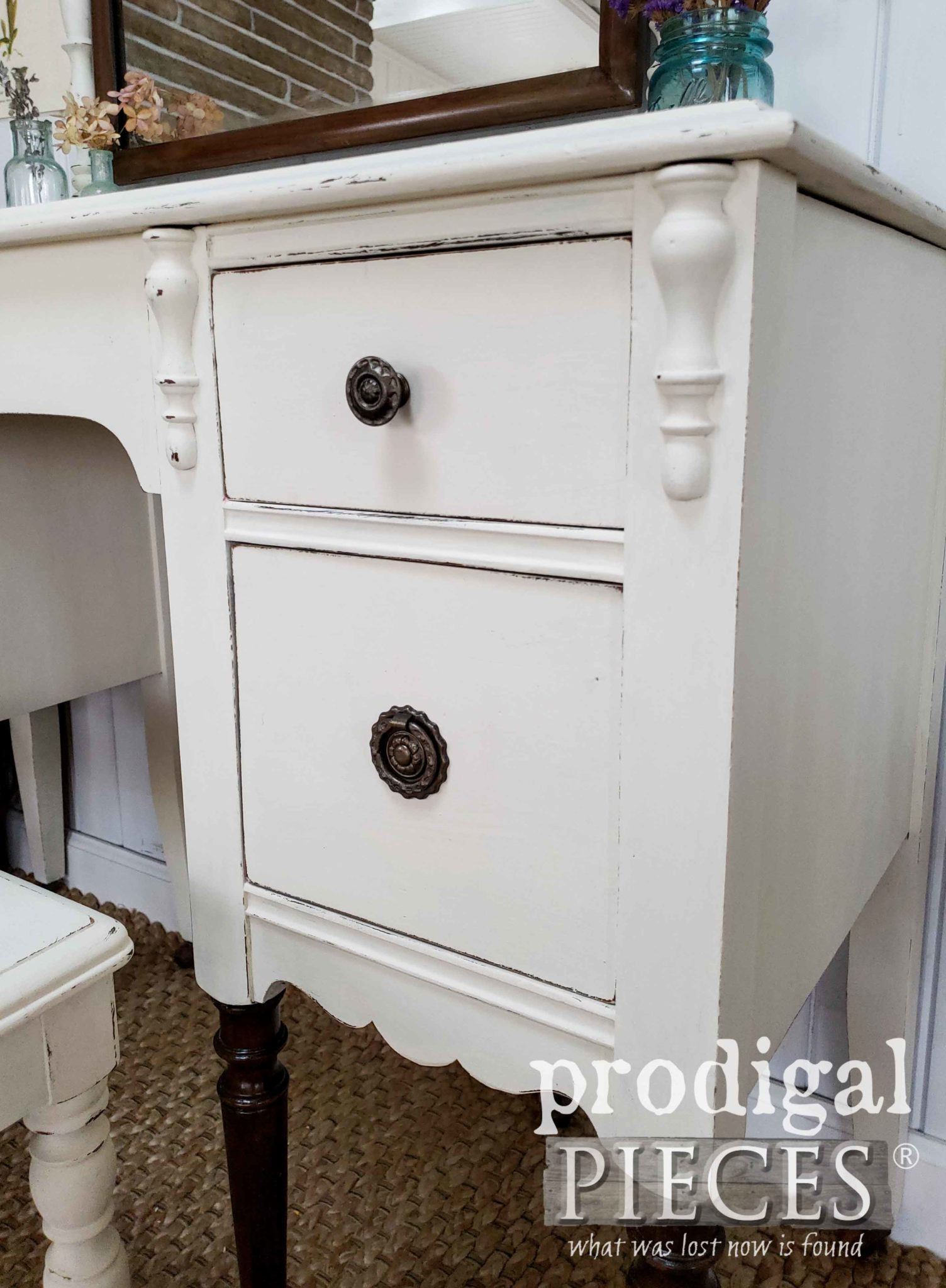 Antique Dressing Table with Time-Worn Wear | prodigalpieces.com