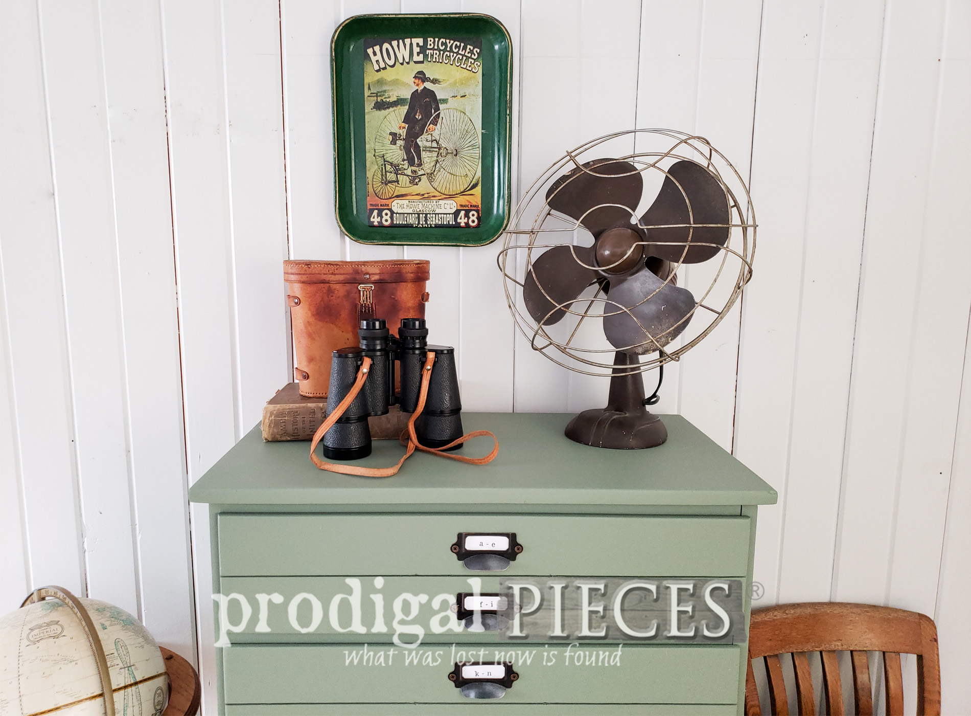 Featured Upcycled Map Cabinet from Vintage Chest of Drawers by Larissa of Prodigal Pieces | prodigalpieces.com #prodigalpieces #shopping #furniture #diy #handmade #vintage #home #homedecor #homedecorideas #farmhouse