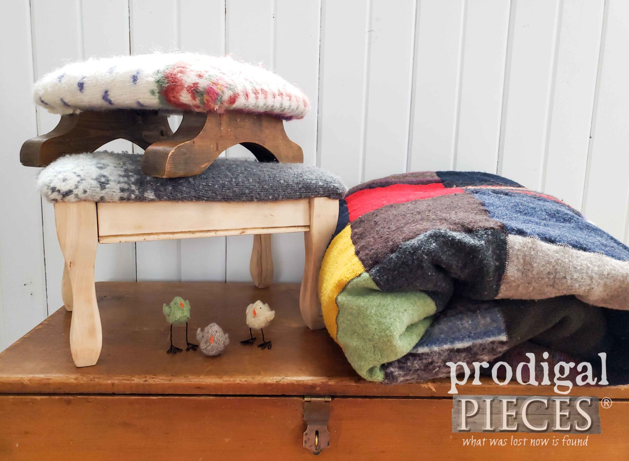 Handmade Felted Wool Sweater Projects ~ Toys, Quilts, Upholstery, and so much more | by Larissa of Prodigal Pieces | prodigalpieces.com #prodigalpieces #diy #handmade #home #homedecor #homedecorideas #toys