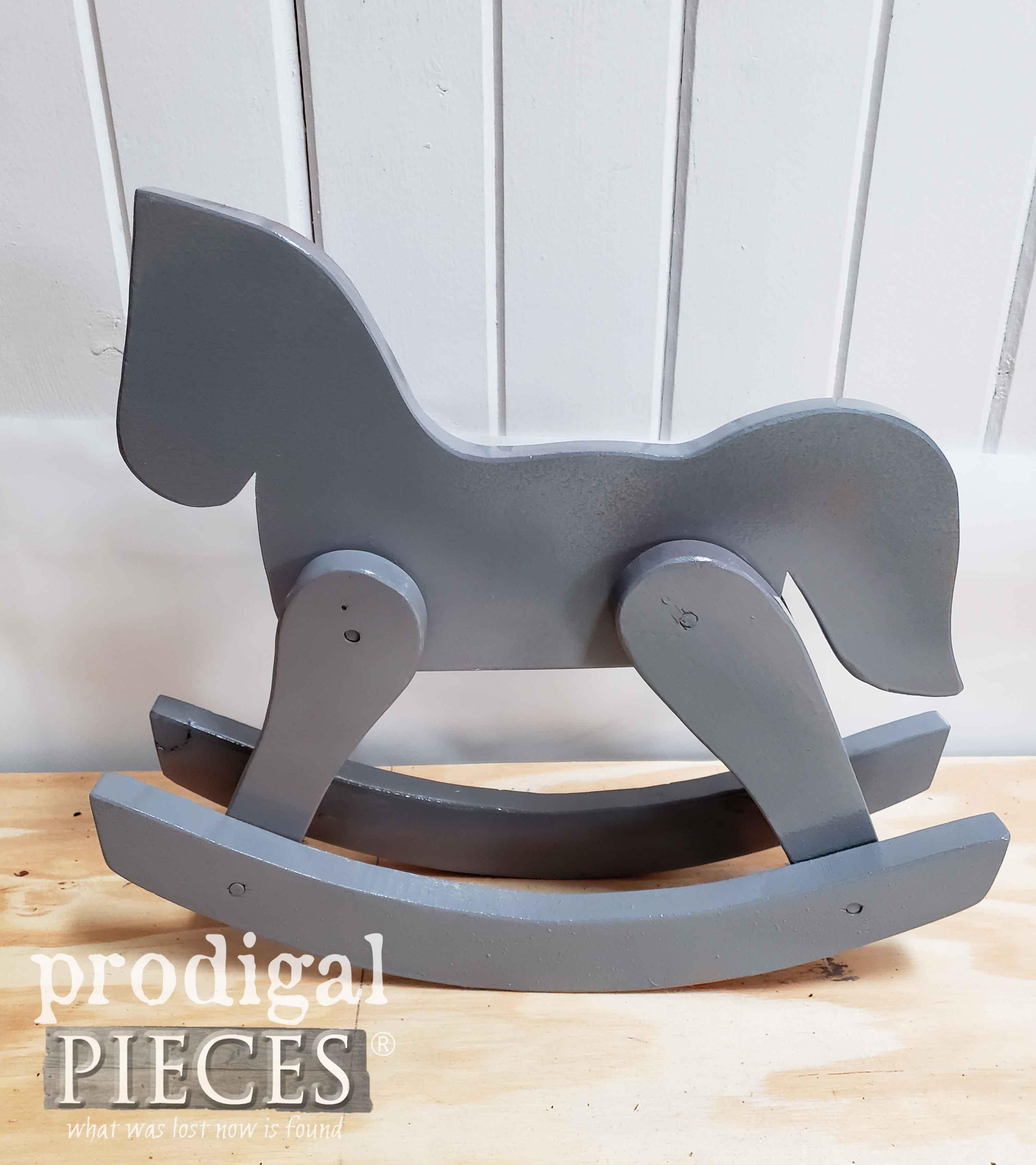 Gray Wooden Hobby Horse | prodigalpieces.com