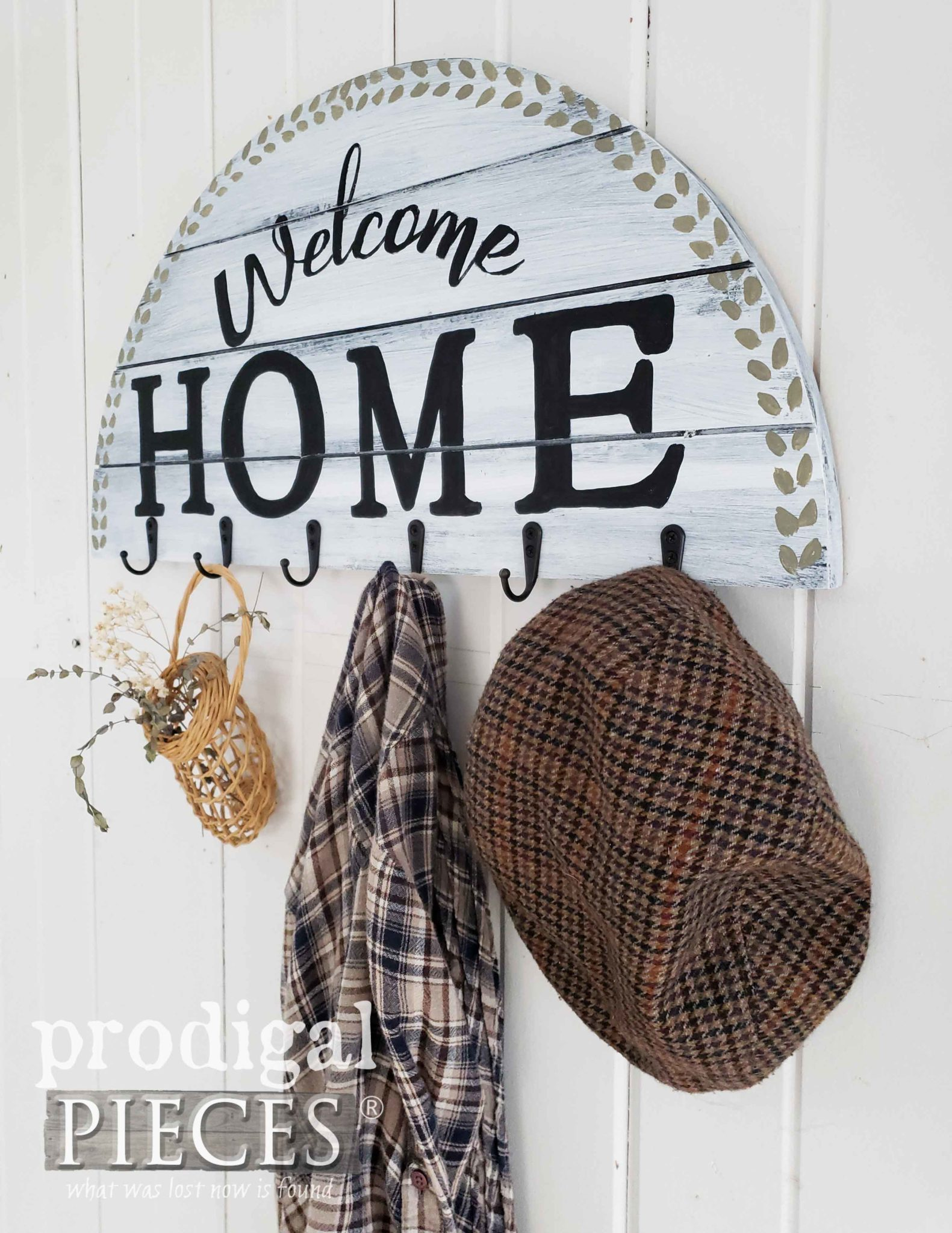 Handmade Farmhouse Coat Rack with Tutorial by Larissa of Prodigal Pieces | prodigalpieces.com #prodigalpieces