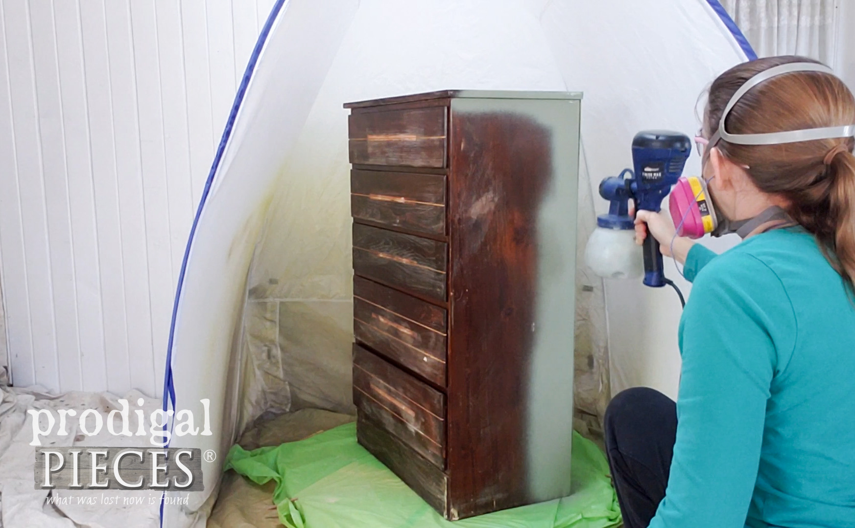 HomeRight Finish Max Extra Paint Sprayer for Upcycled Map Cabinet by Larissa of Prodigal Pieces | prodigalpieces.com #prodigalpieces #diy #furniture #home #homedecor #homedecorideas