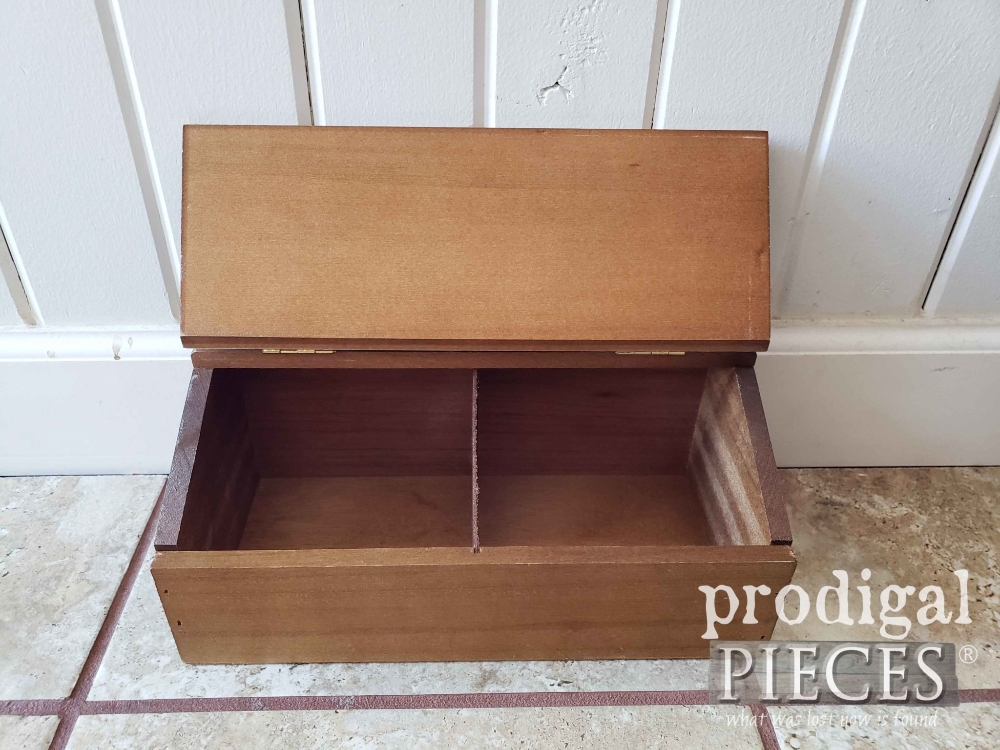 Inside Vintage Wooden Recipe Box | prodigalpieces.com