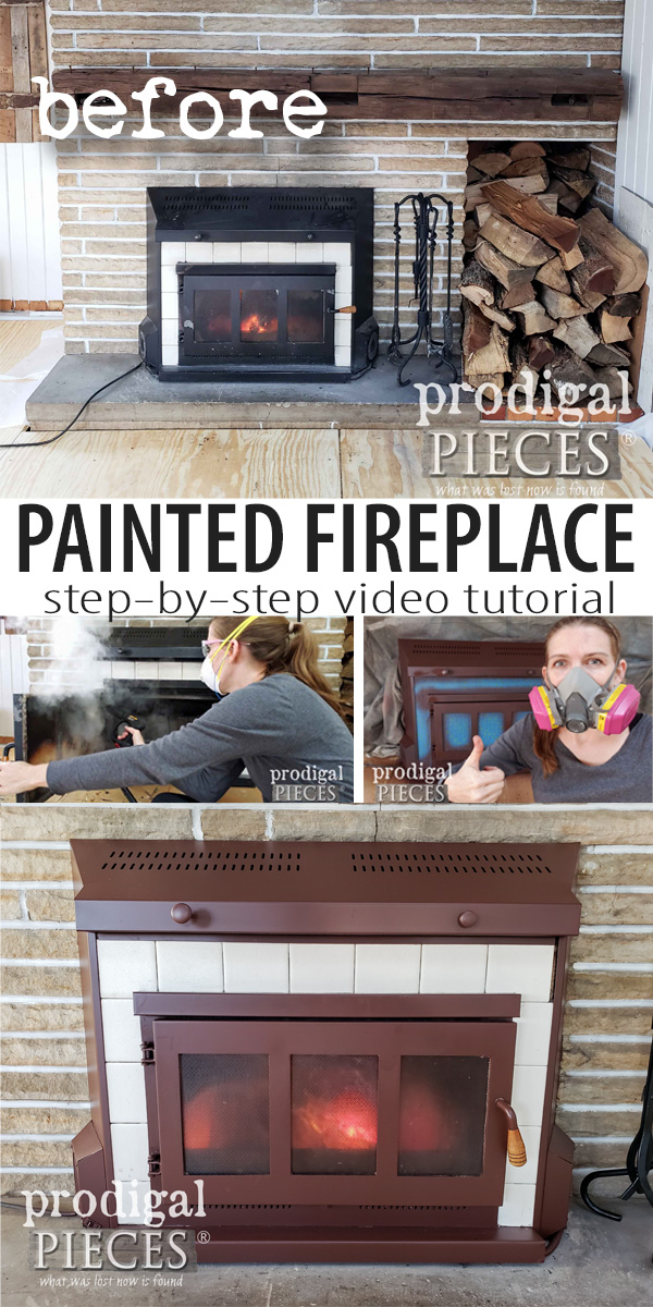 Ready to update your interior decor? Check out this easy step-by-step video tutorial to rock your painted fireplace makeover. Perfect for inserts, surrounds, and screens | DIY at Prodigal Pieces | prodigalpieces.com #prodigalpieces #diy #home #homedecor #homedecorideas #giveaway