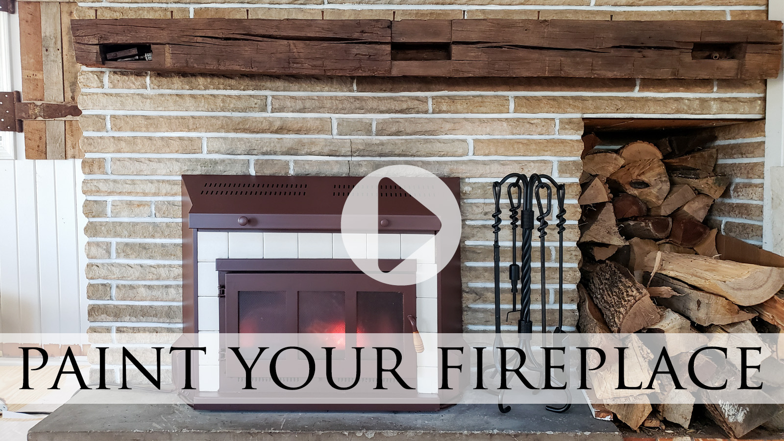 How to Clean & Paint Your Fireplace Insert by Larissa of Prodigal Pieces | prodigalpieces.com