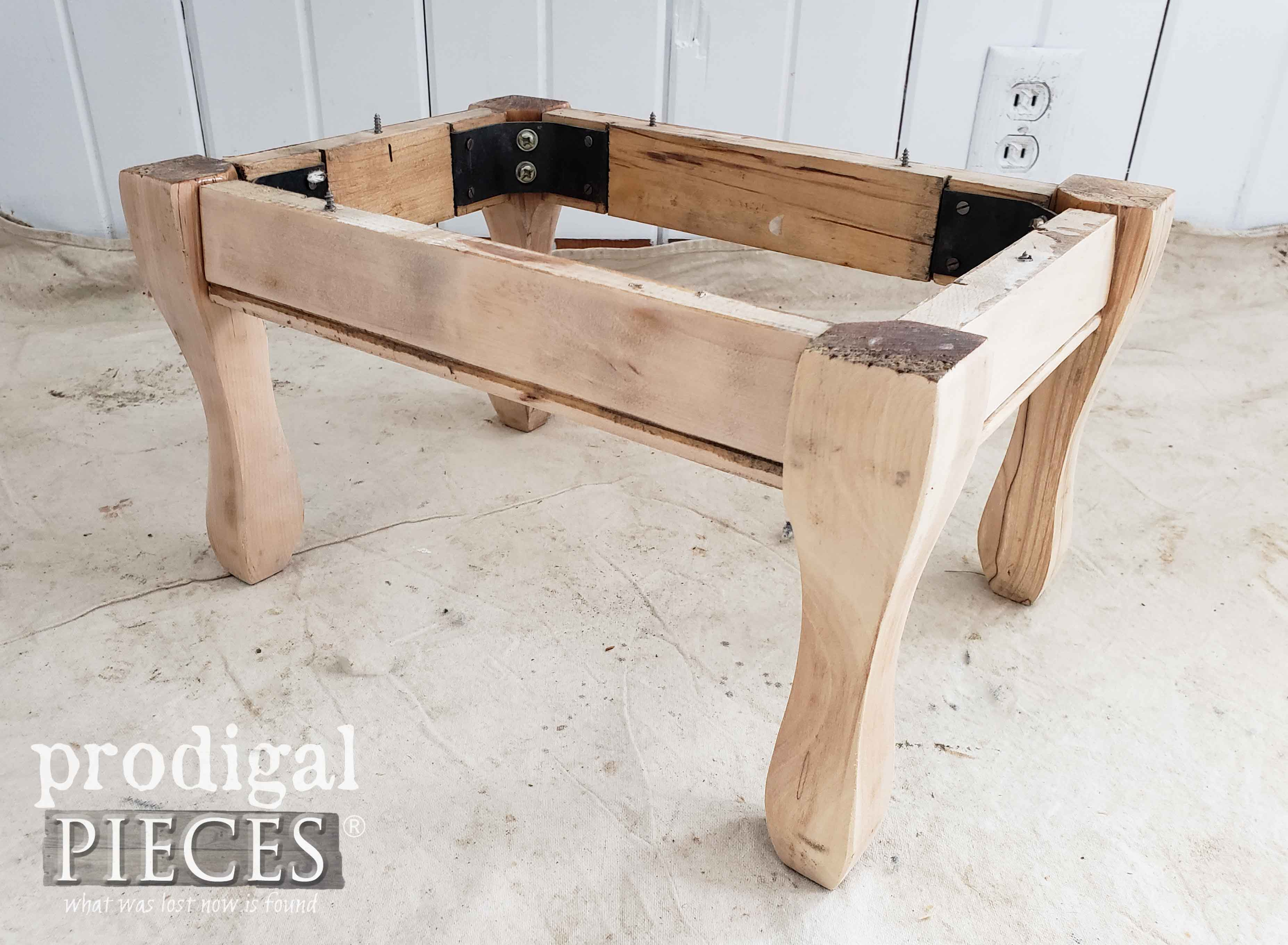 Sanded Footstool Base by Prodigal Pieces | prodigalpieces.com