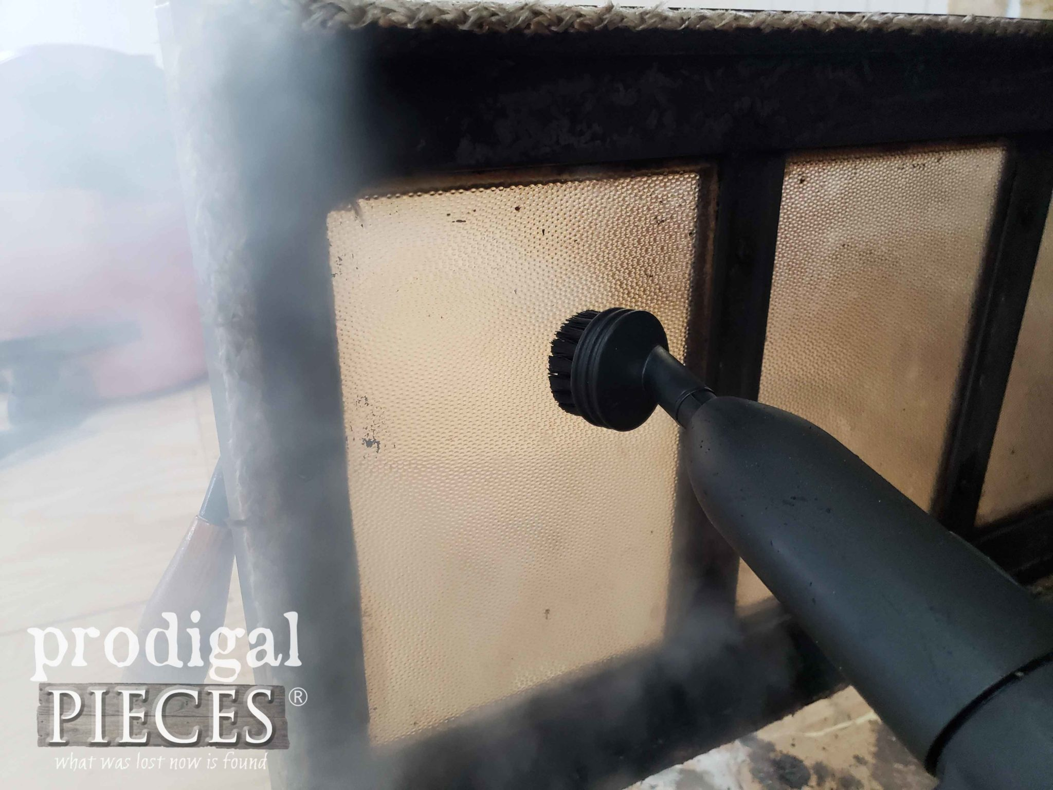Steam Cleaning Fireplace Insert Door | prodigalpieces.com