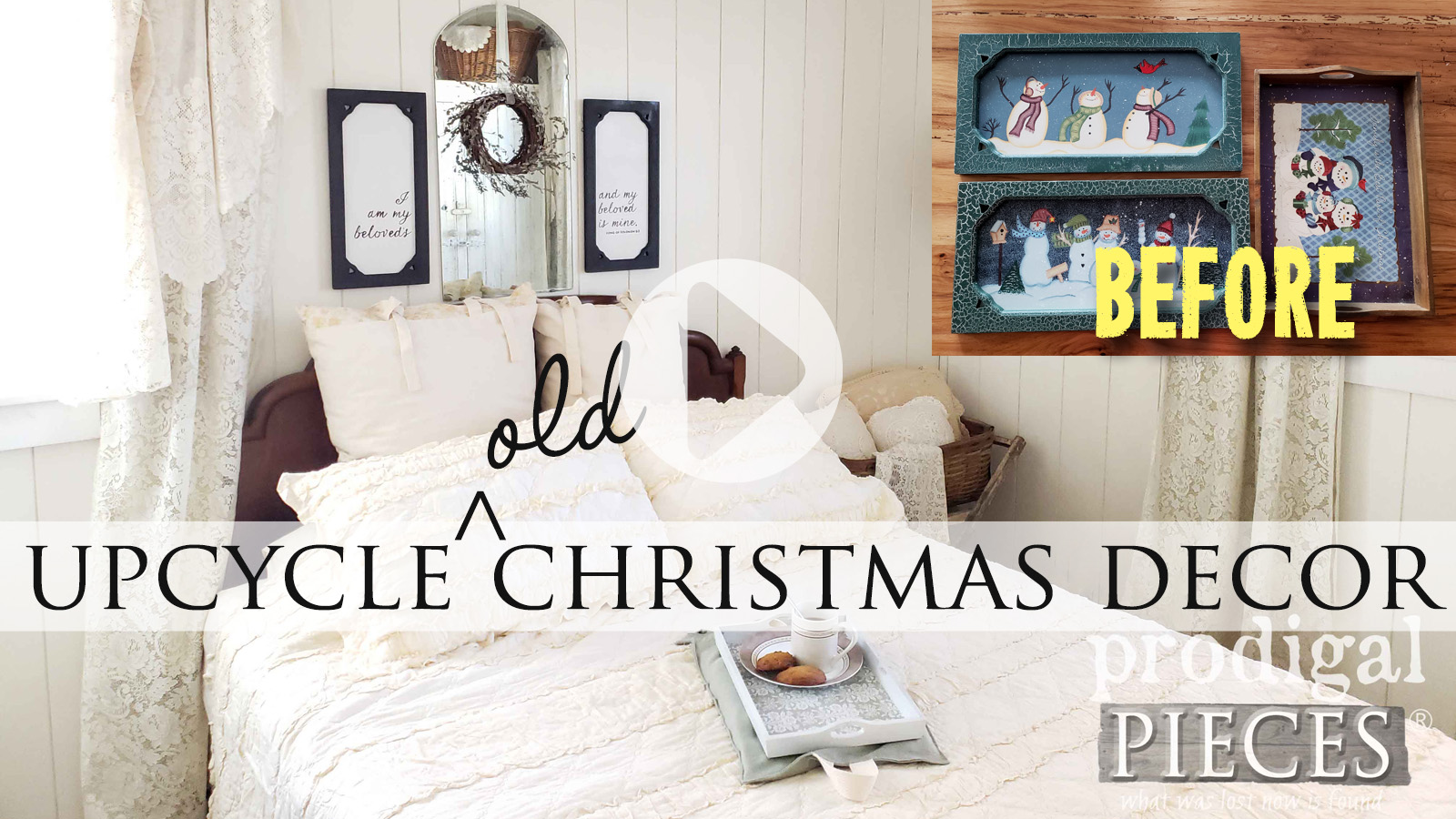 Upcycled Old Christmas Decor Video Tutorial by Larissa of Prodigal Pieces | prodigalpieces.com #prodigalpieces