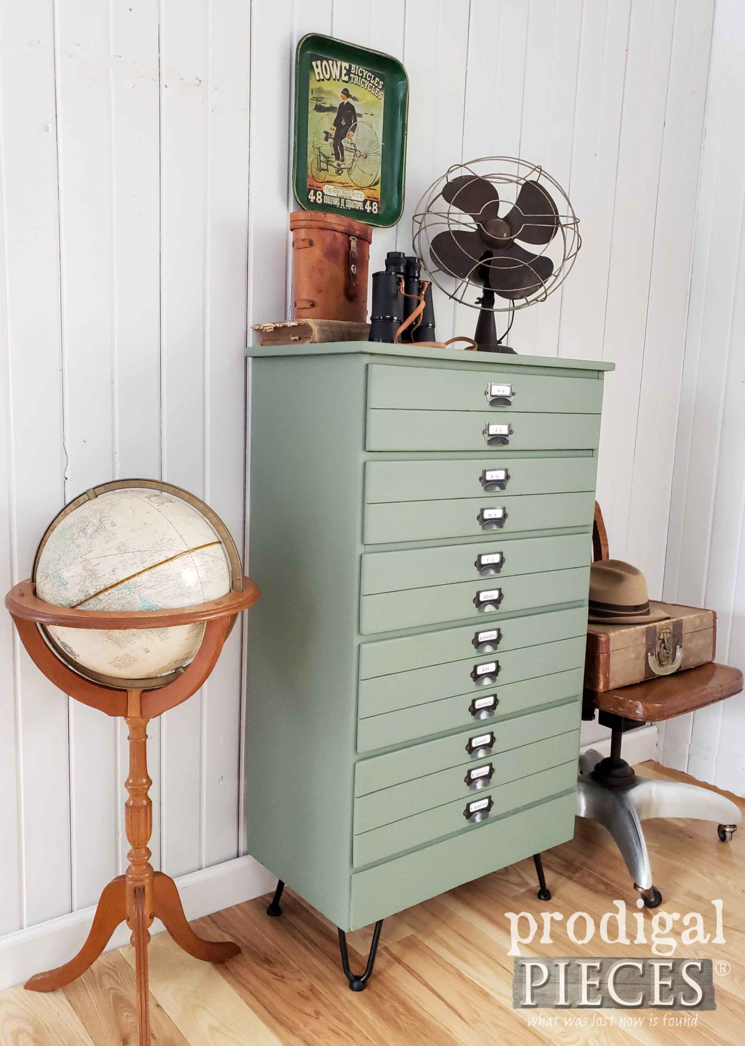 Vintage Chest of Drawers Becomes a Faux Map Cabinet by Larissa of Prodigal Pieces | prodigalpieces.com #prodigalpieces #diy #home #furniture #homedecor #farmhouse #homedecorideas