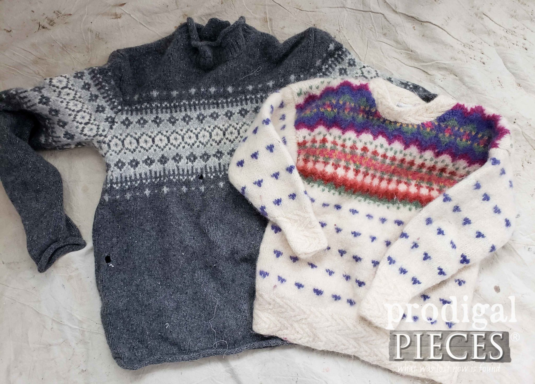 Wool Sweaters from the Thrift Store for Making Felted Wool | DIY at Prodigal Pieces | prodigalpieces.com