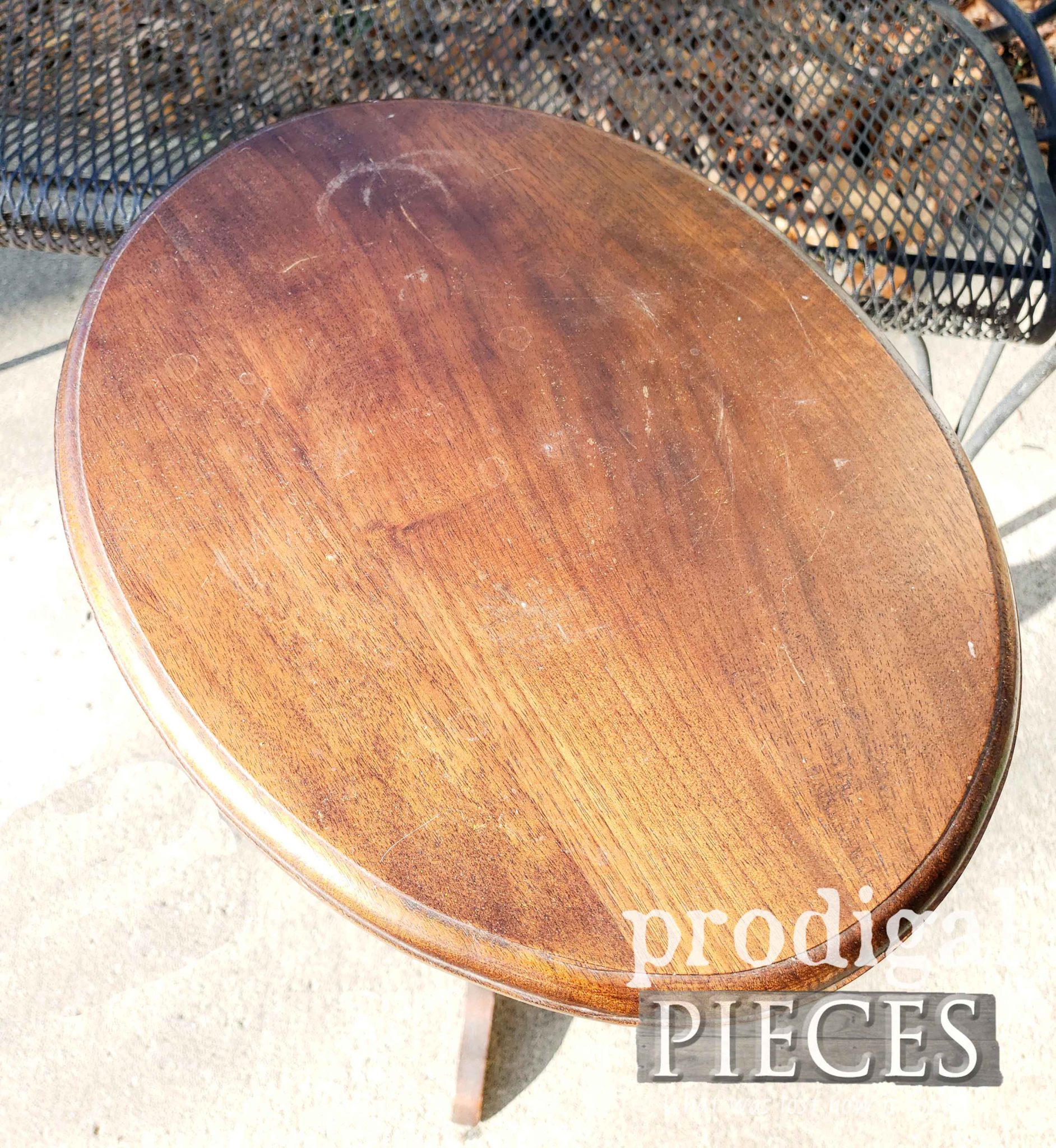 Vintage Accent Table Top Damaged | prodigalpieces.com