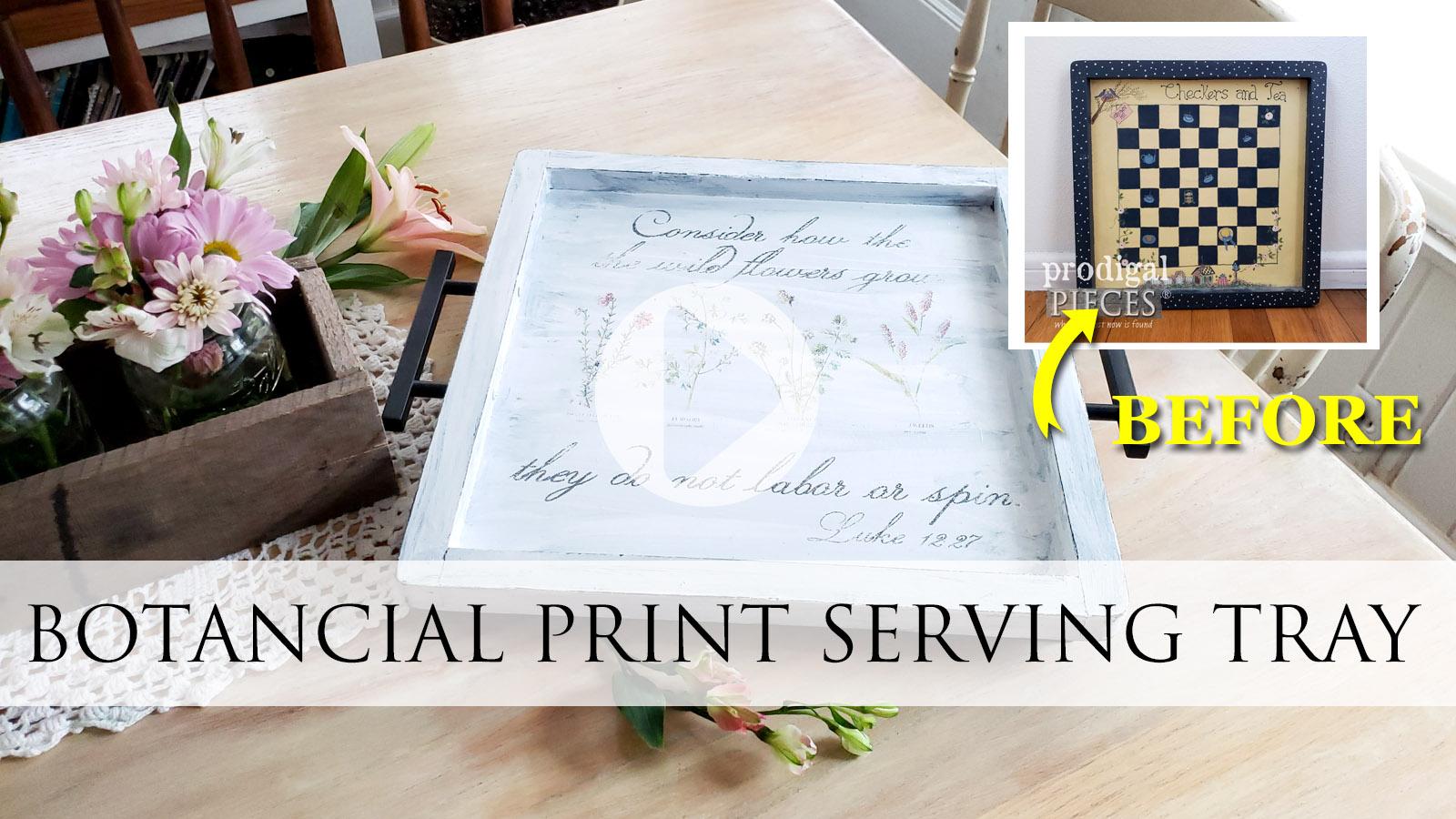 DIY Botanical Print Serving Tray Makeover by Larissa of Prodigal Pieces | prodigalpieces.com #prodigalpieces