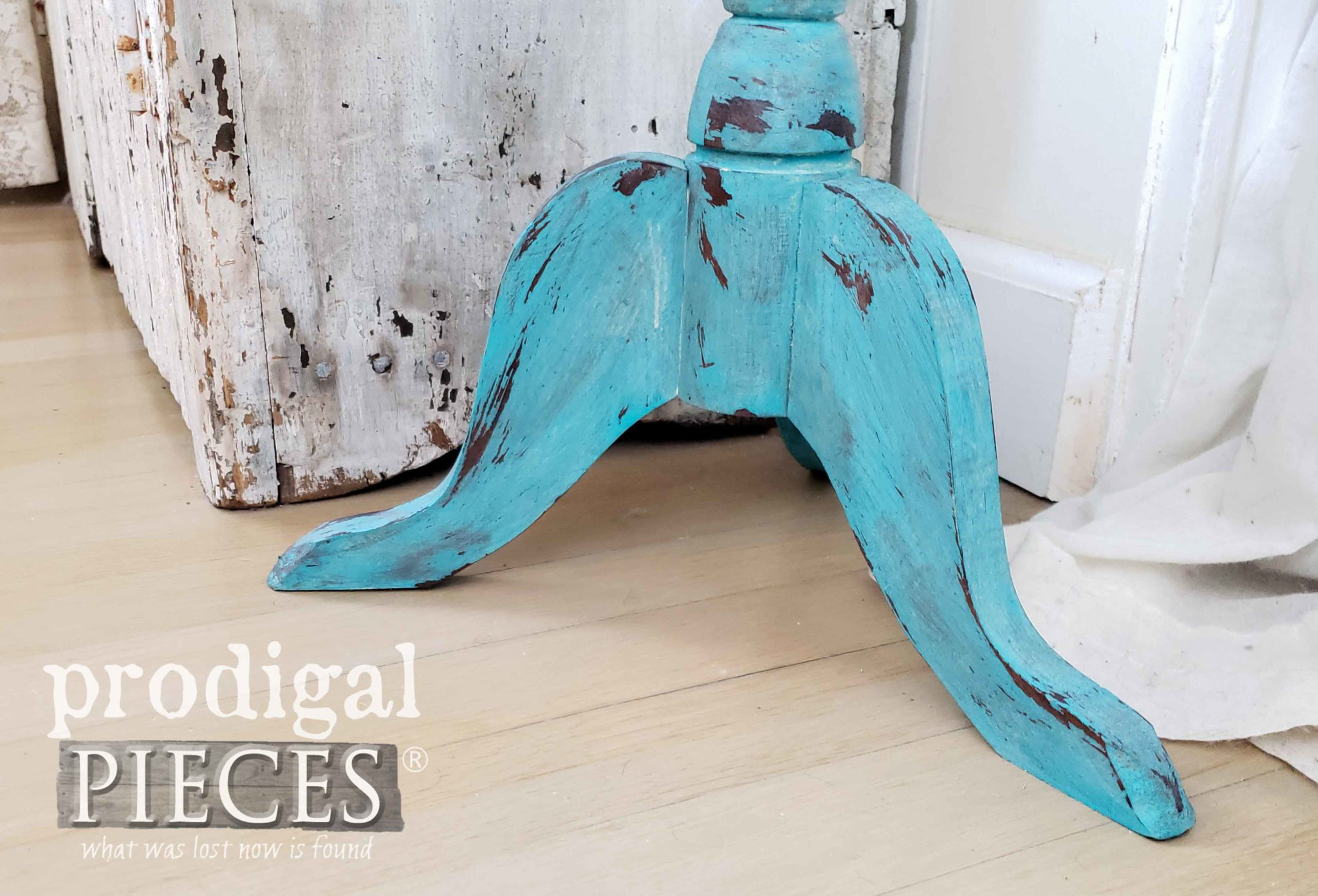 Chippy Blue Table Legs | prodigalpieces.com