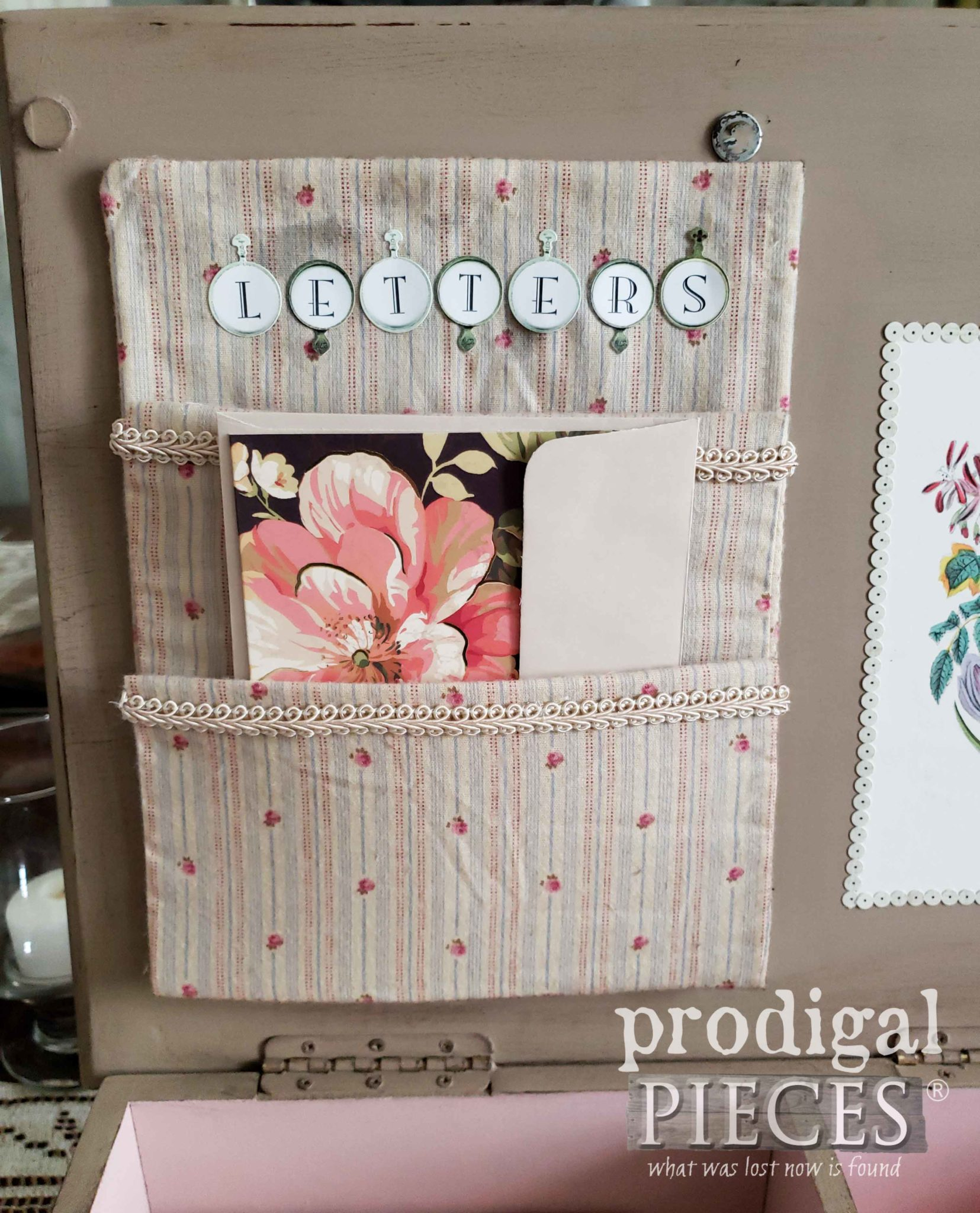DIY Letter Holder for Keepsake Box by Prodigal Pieces | prodigalpieces.com #prodigalpieces