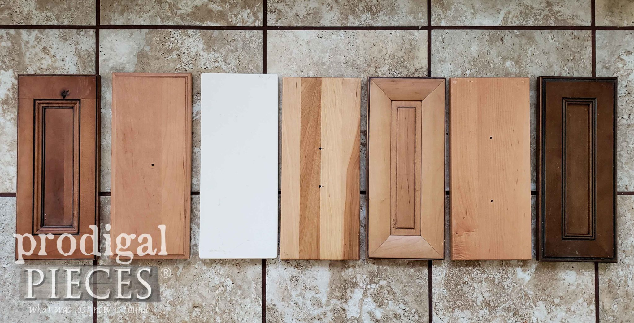 Assortment of Drawer Fronts Before Makeover by Prodigal Pieces | prodigalpieces.com